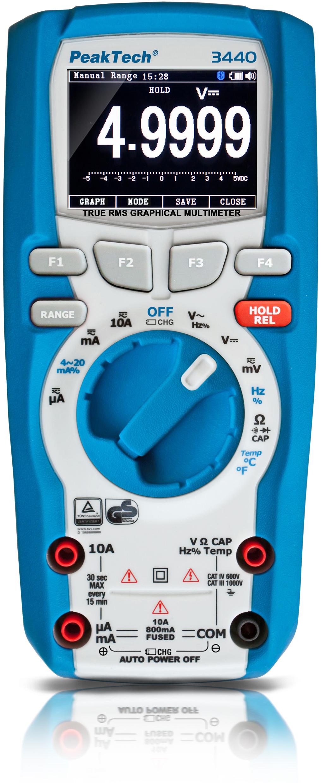 «PeakTech® P 3440» True RMS graphic multimeter 50,000 counts