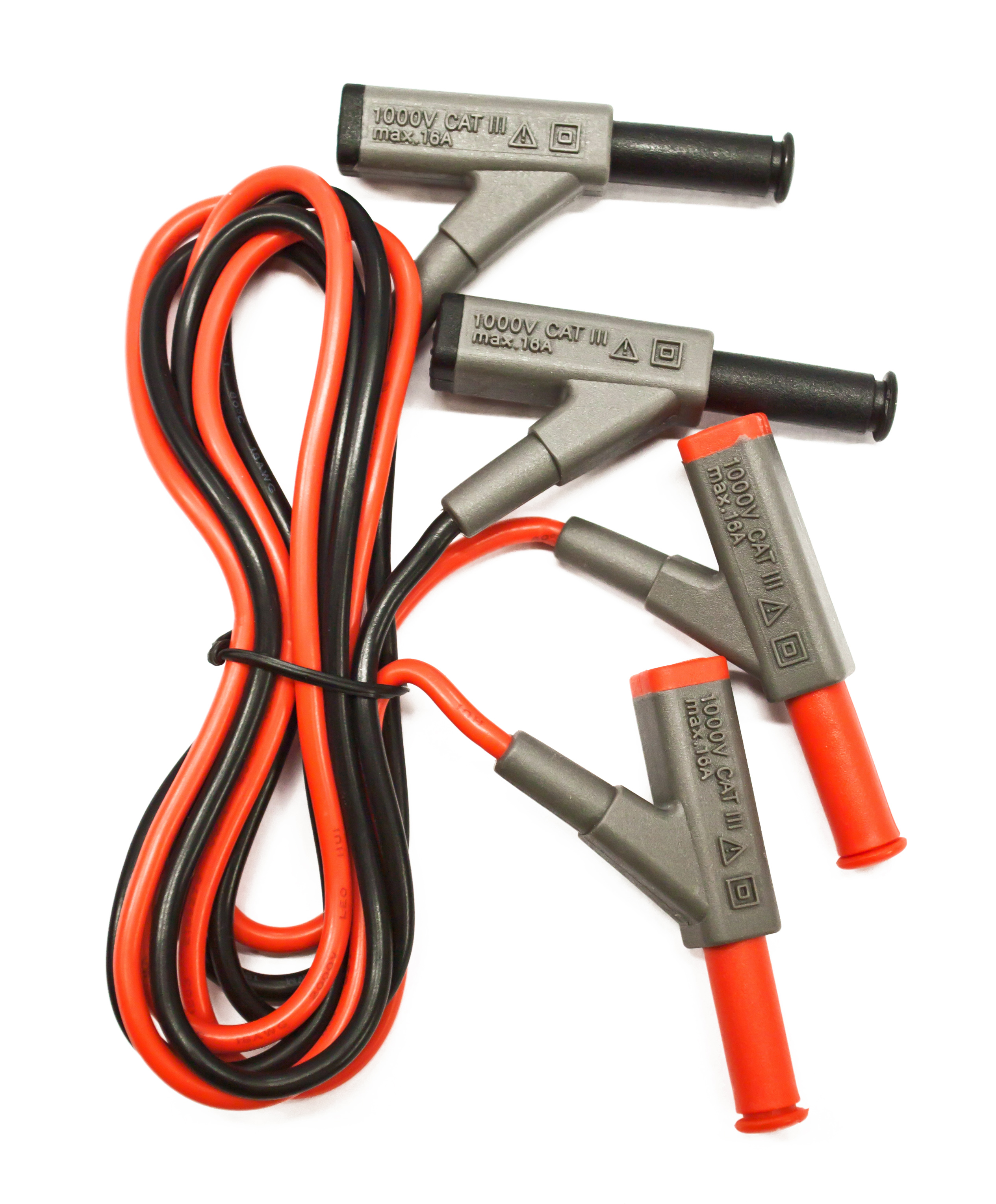 «PeakTech® P 7025» Test Leads for Digital Multimeter with coupling