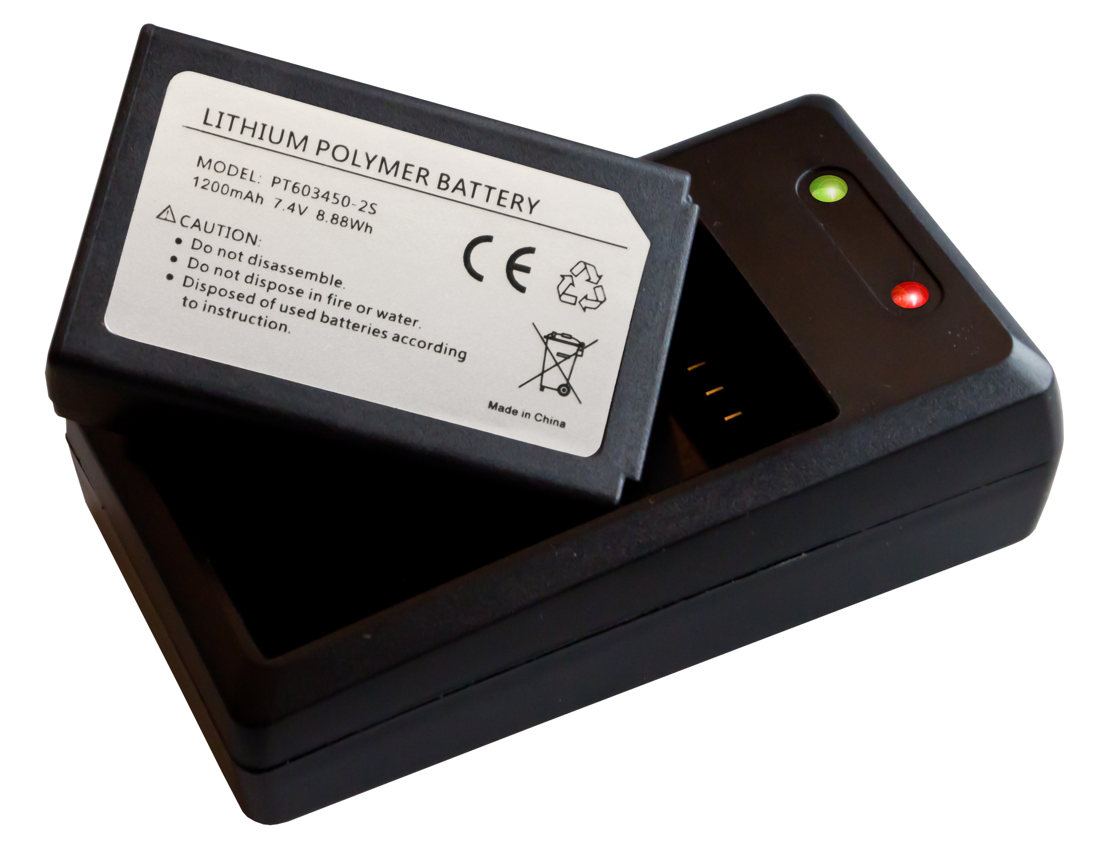 «PeakTech® P 3440 BC» charger and spare battery for PeakTech 3440