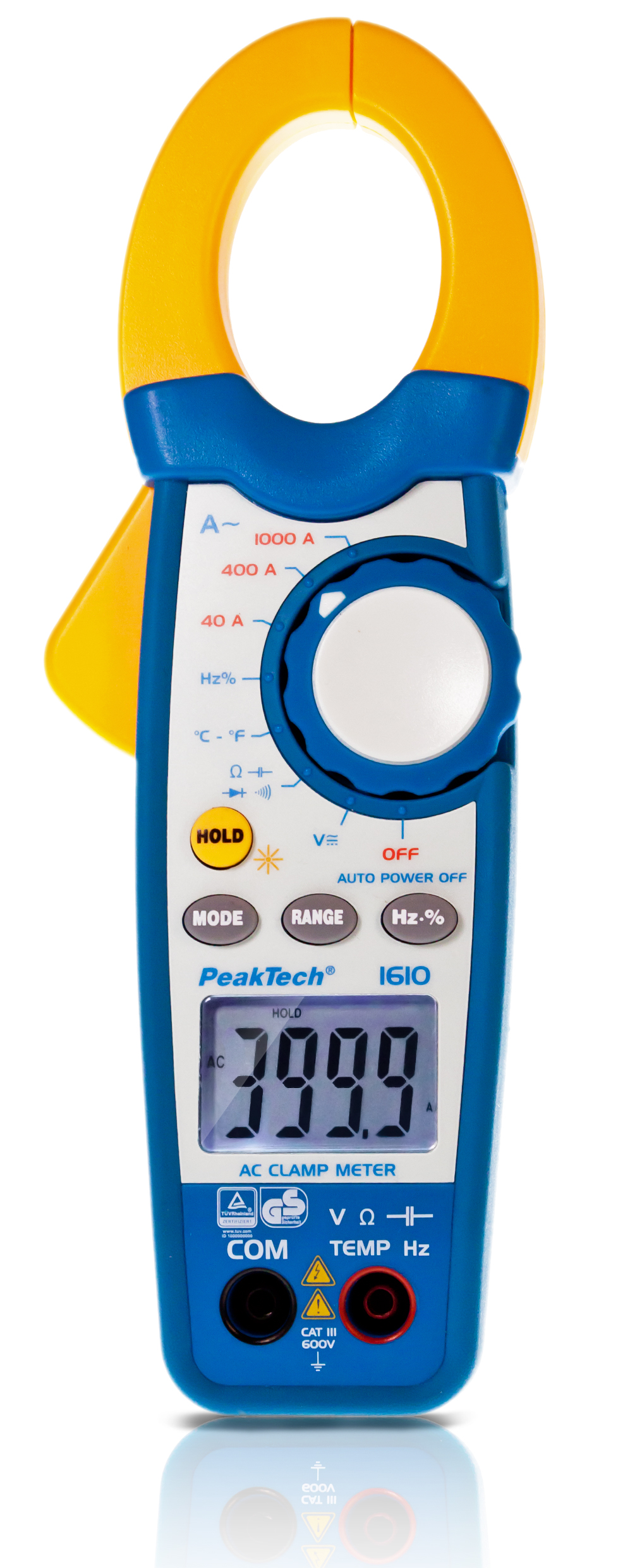 «PeakTech® P 1610» Clamp meter 4,000 counts 1000 A AC