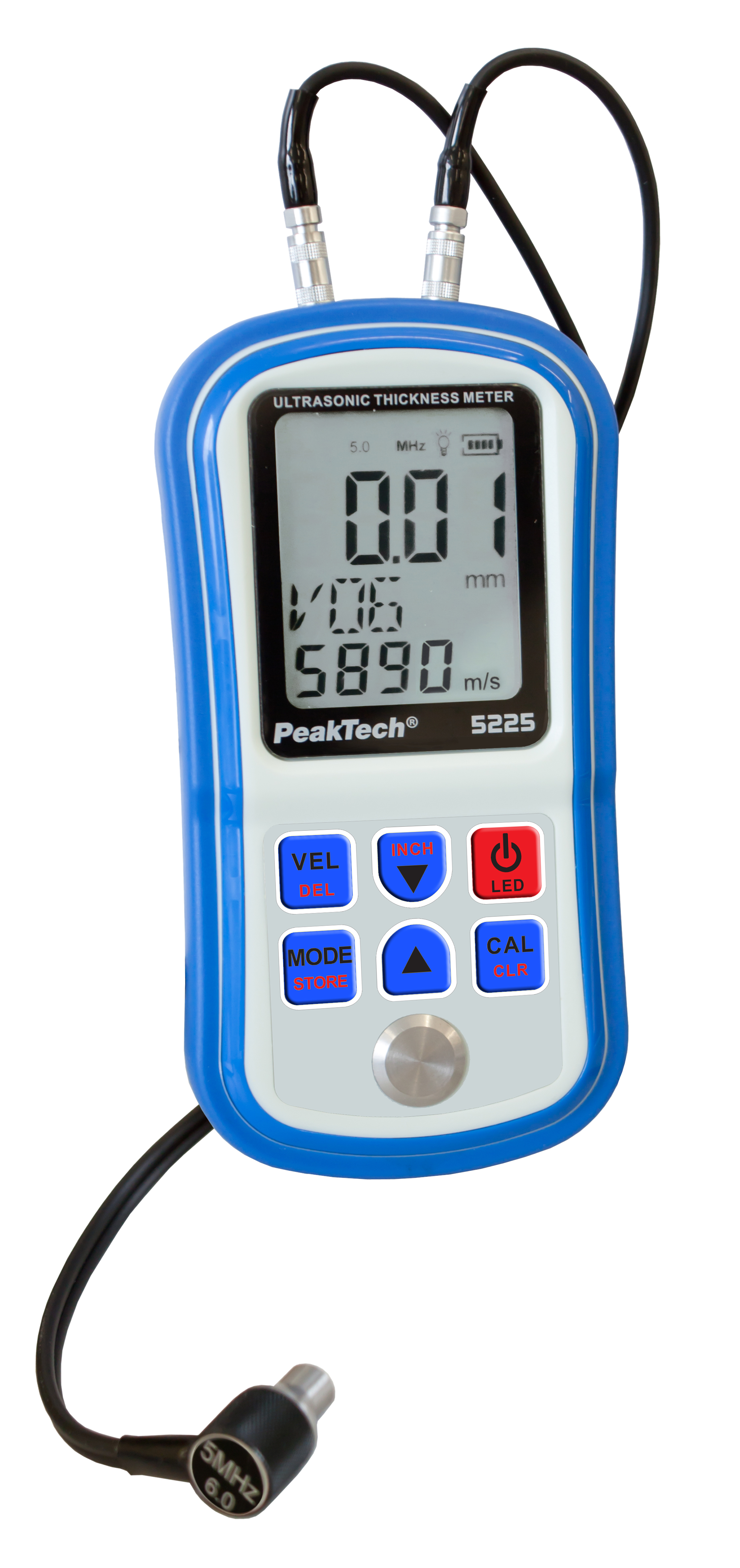 «PeakTech® P 5225» Ultrasonic Coating & Material Thickness Meter