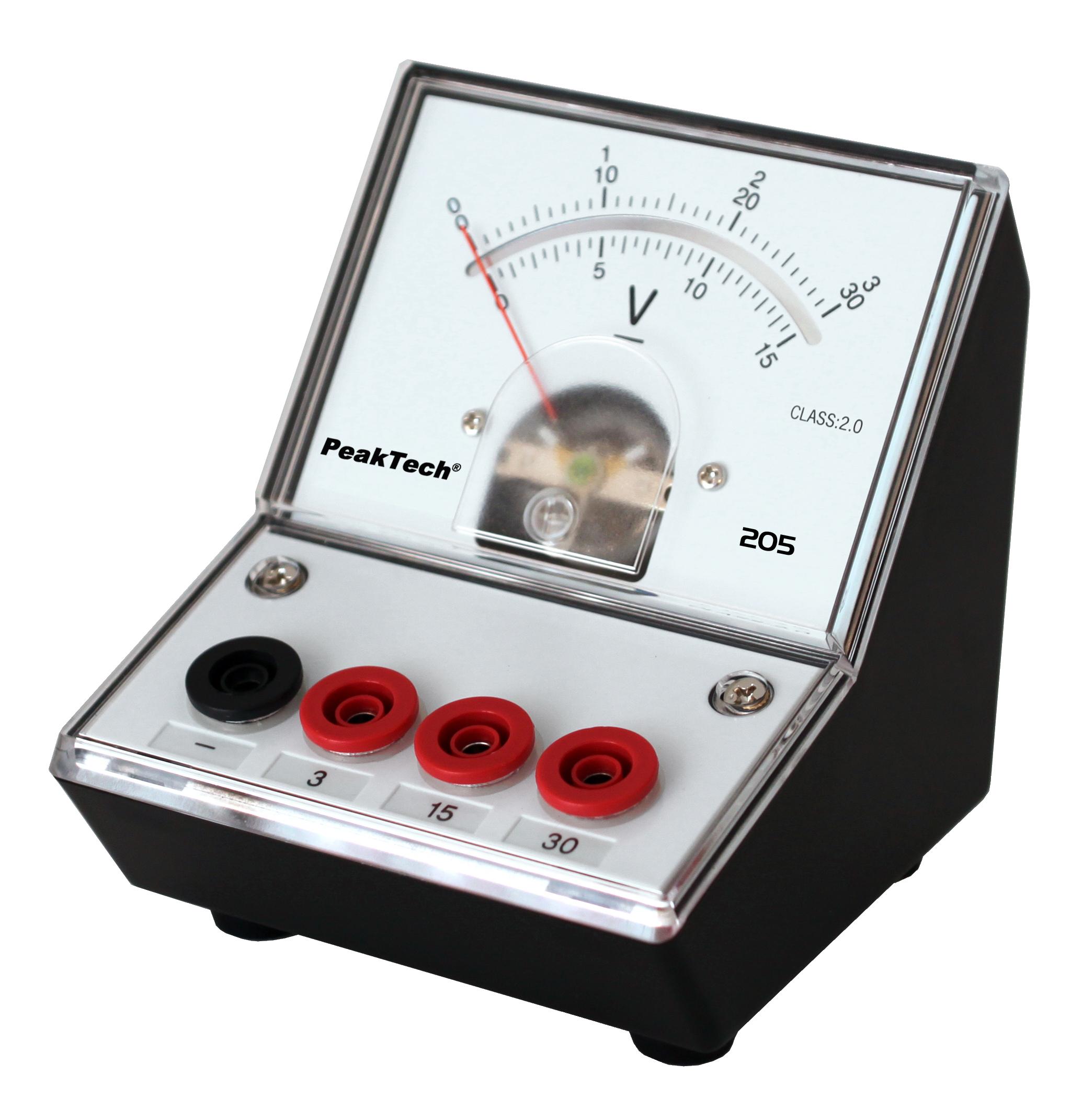 «PeakTech® P 205-06» Analog voltmeter - 0 ... 3V/15V/30V DC