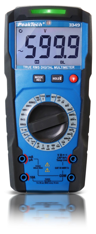 «PeakTech® P 3349» TrueRMS digital multimeter ~ Man. Range ~ 6.000 Counts ~ 600 V / 10 A AC/DC