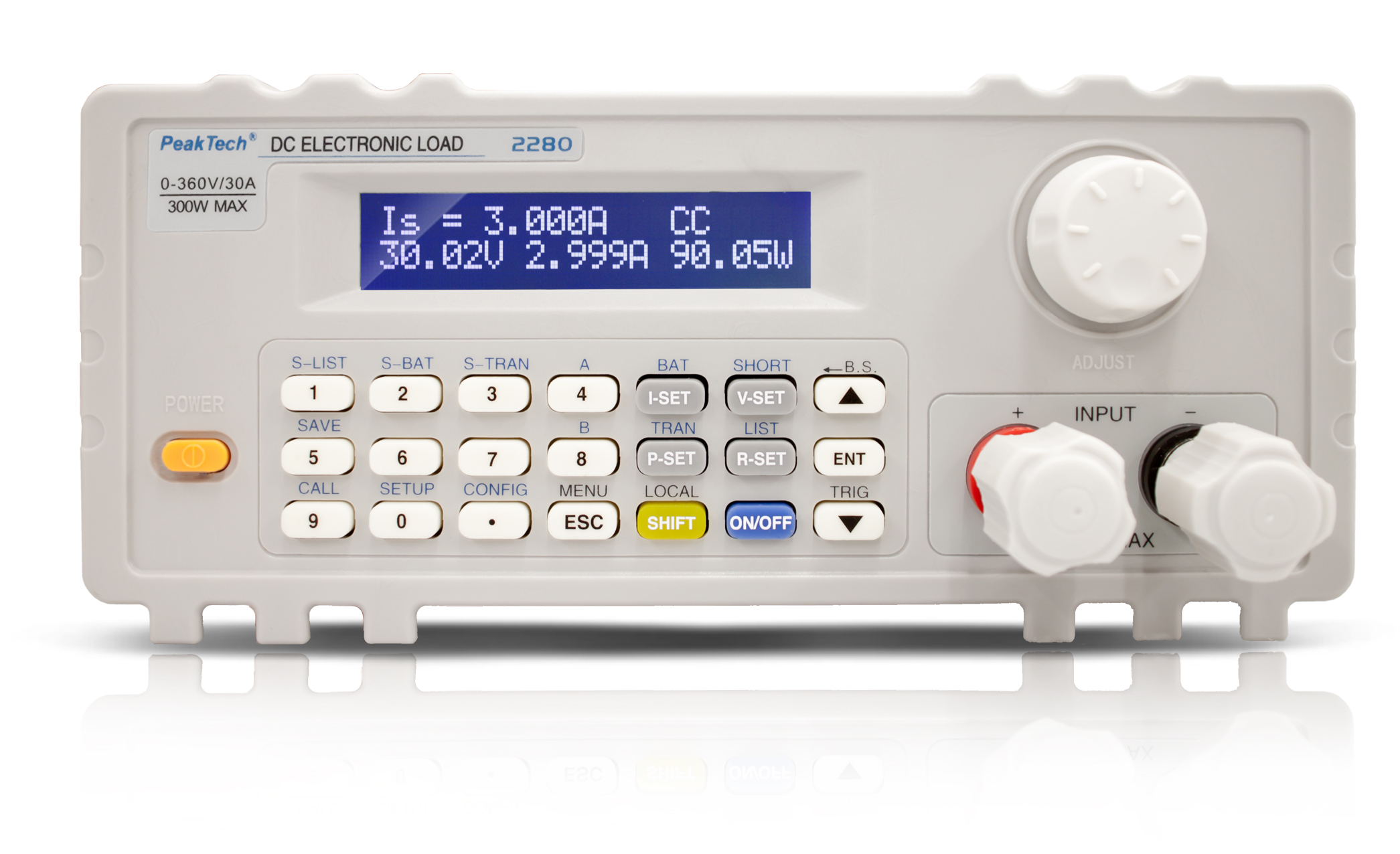 «PeakTech® P 2280» DC electronic load with USB