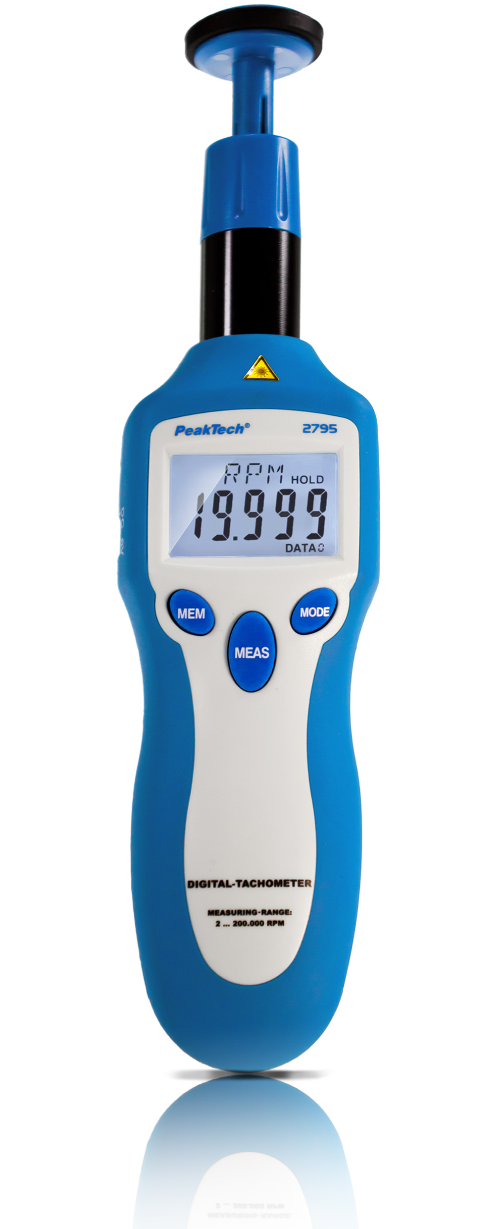 «PeakTech® P 2795» Tachometer photo-contact type with laser
