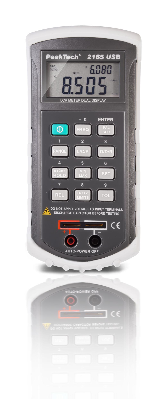 «PeakTech® P 2165» LCR-Meter ~ 20.000 Counts ~ 120 Hz - 1 kHz mit USB-Schnittstelle