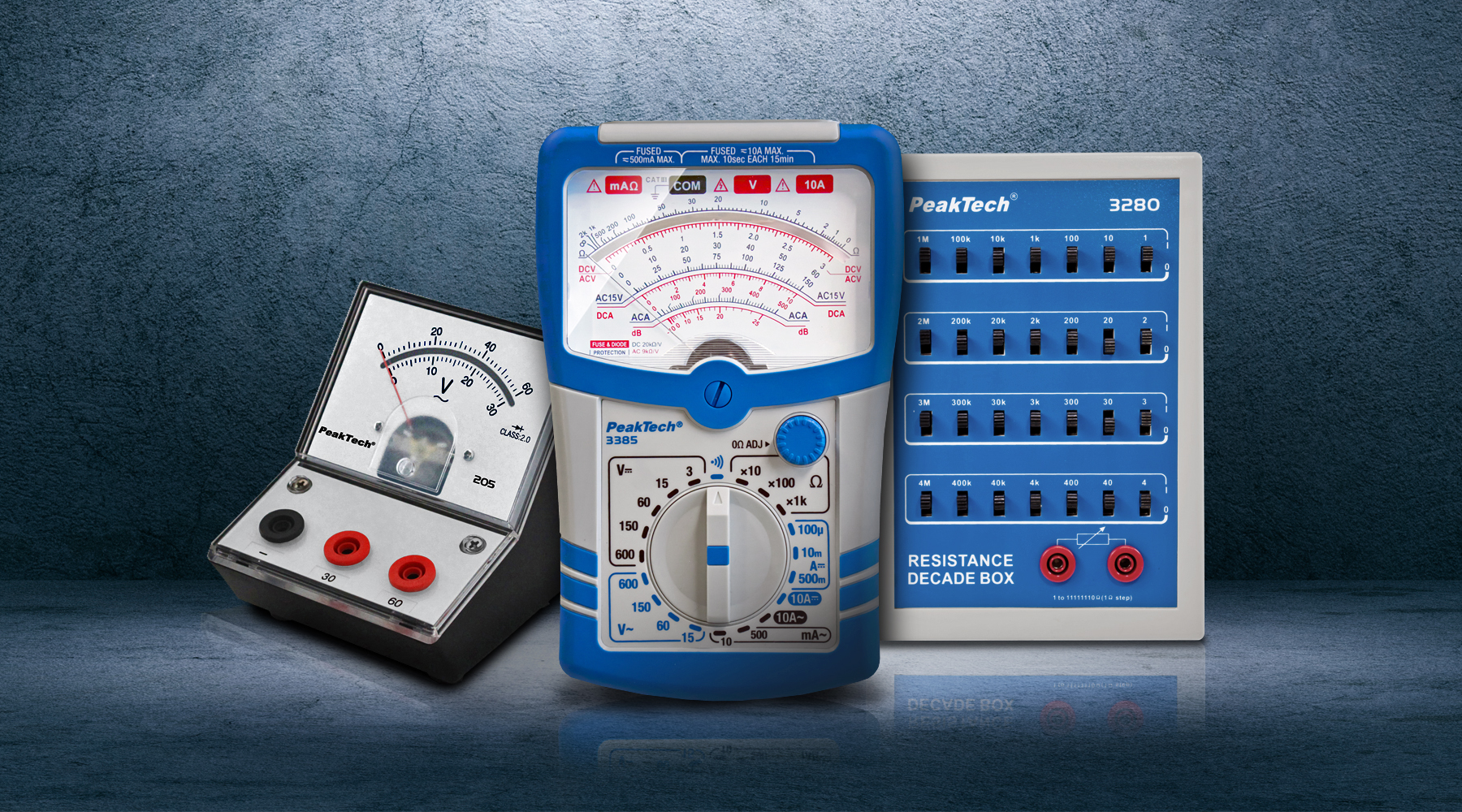 Analog meters & built-in devices