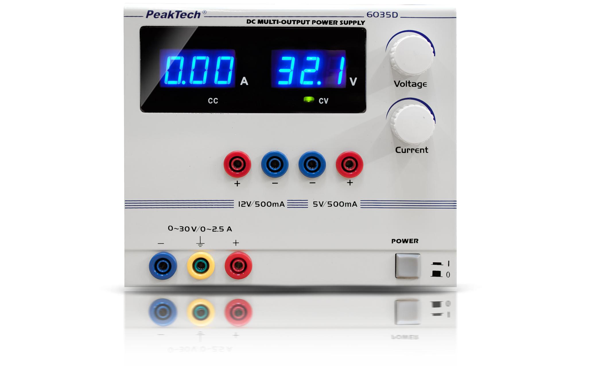 «PeakTech® P 6035 D» Digital Power Supply 0 - 30 V/0 - 2,5 A DC