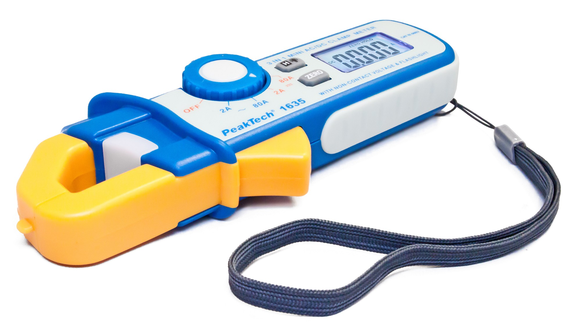 «PeakTech® P 1635» Leakage current clamp 2/80 A AC/DC, 1mA resolution