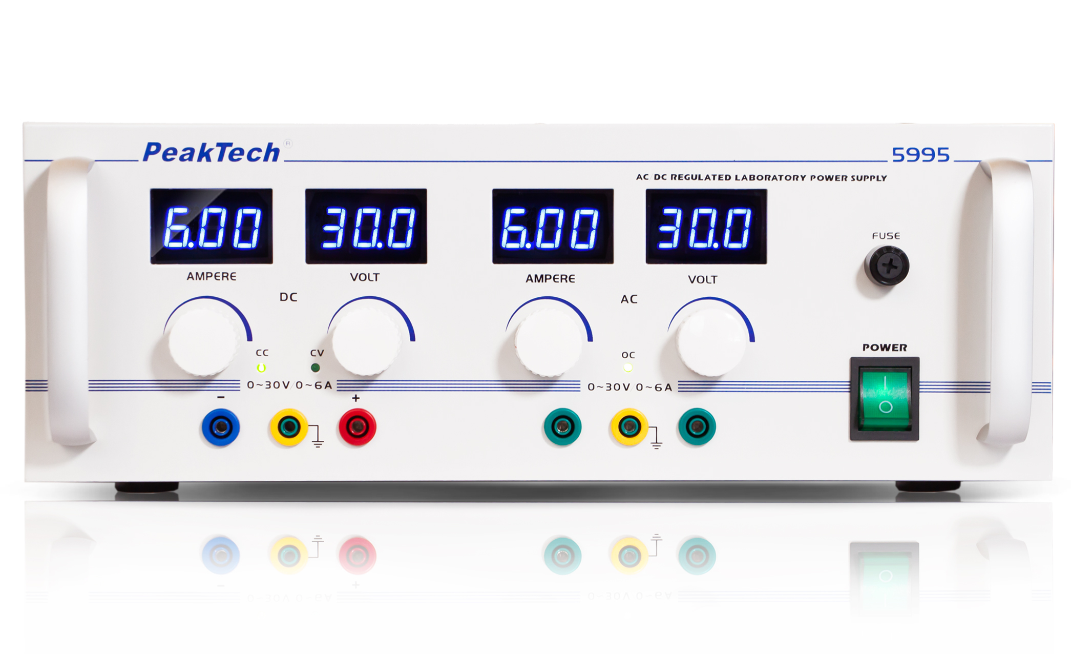 «PeakTech® P 5995» AC/DC Laboratory Power Supply 0 - 30 V/0 - 6 A