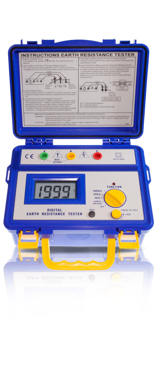«PeakTech® P 1115» Erdwiderstandsmessgerät ~ 2.000 Counts ~ 20/200/2.000 Ohm