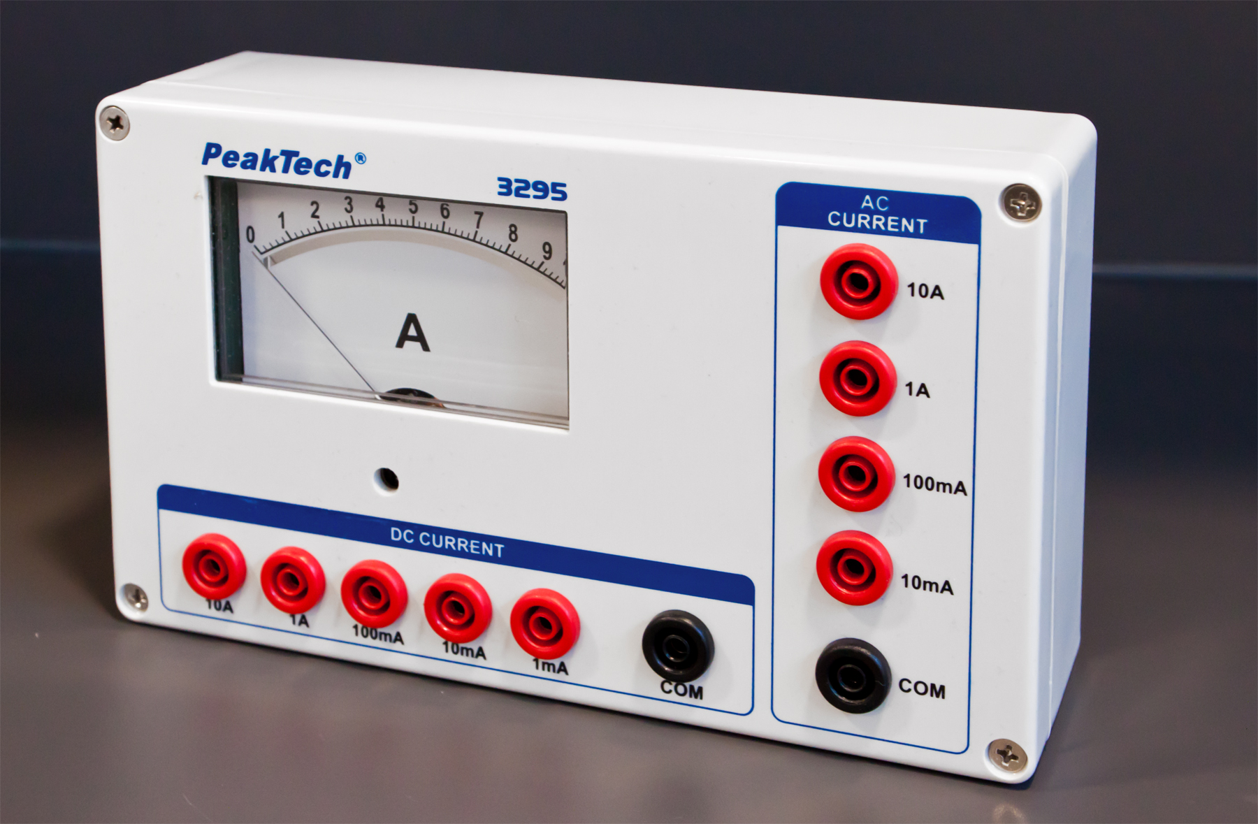 «PeakTech® P 3295» Analog ammeter - 0 ... 1/10/100 mA / 1/10 A AC/DC