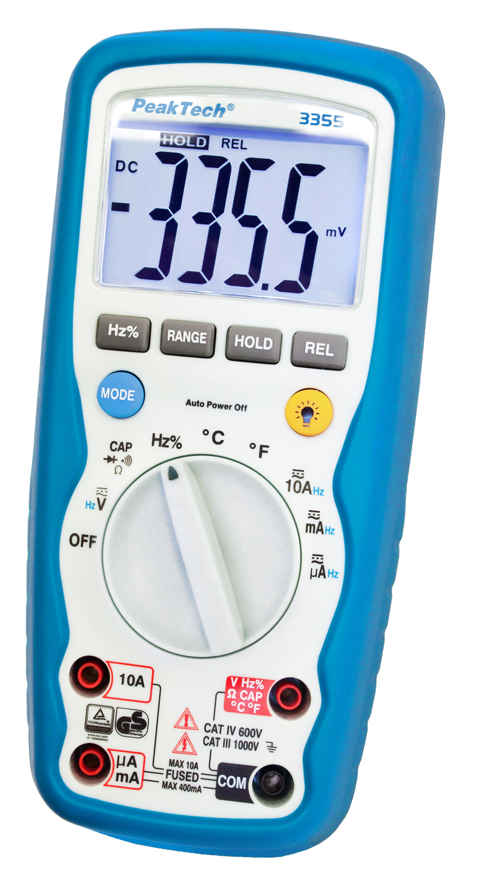 «PeakTech® P 3355» Digital multimeter, 4,000 counts, IP67