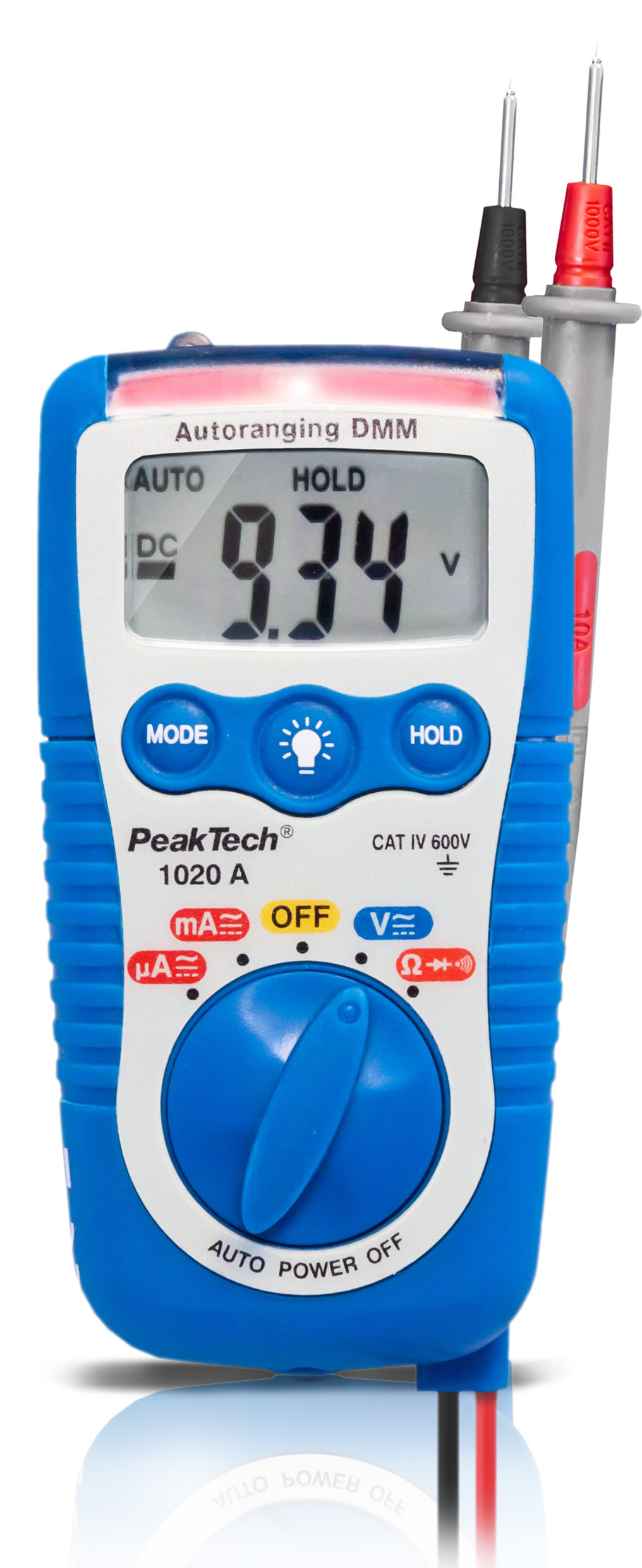 «PeakTech® P 1020 A» 600V AC / DC multimeter with automatic fuse