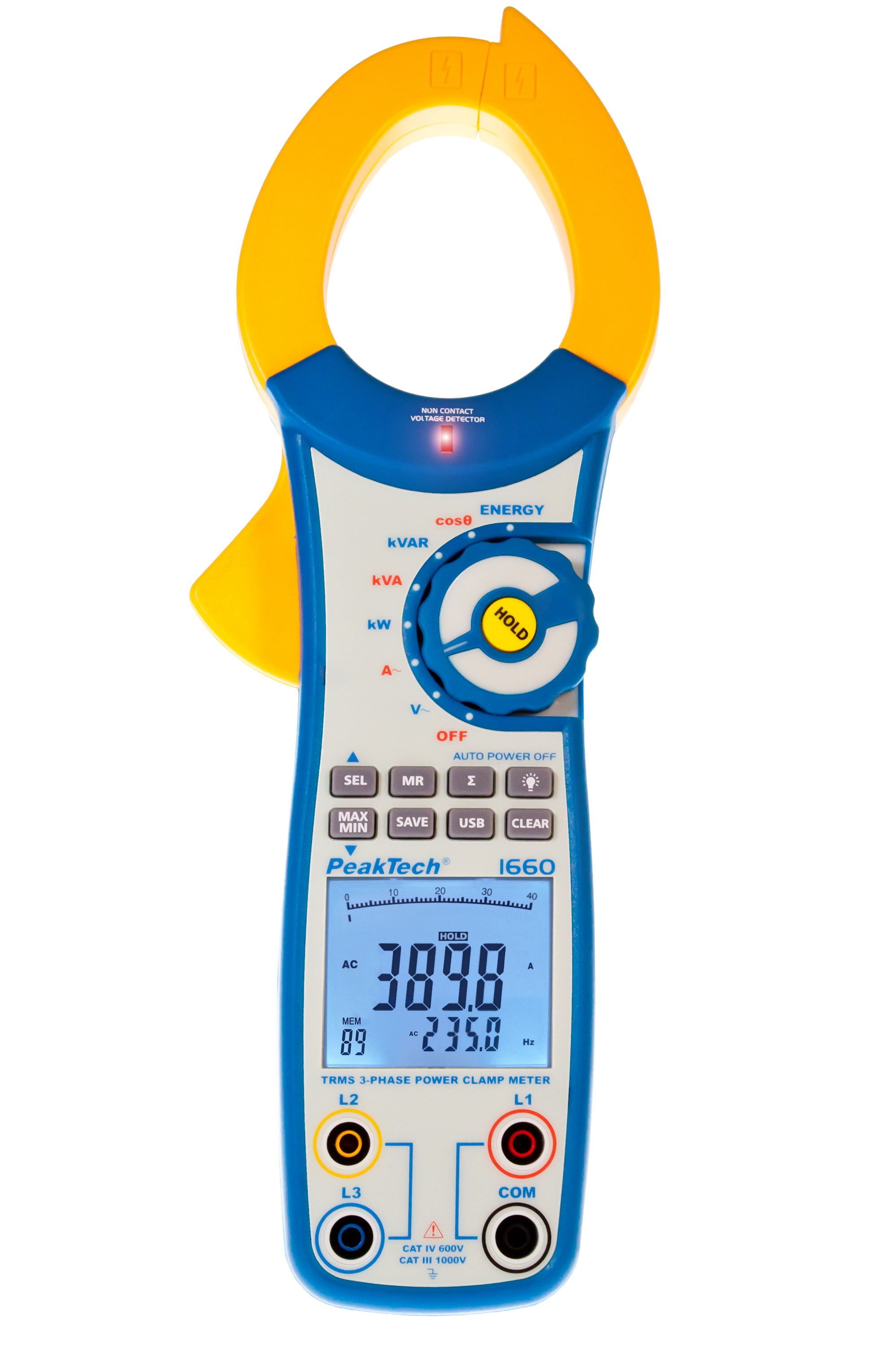 «PeakTech® P 1660» TrueRMS power clamp meter 1000 A AC up to 750 kW