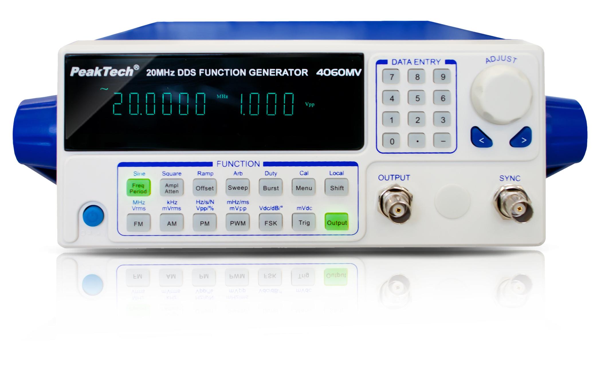 «PeakTech® P 4060 MV» DDS function generator 10 µHz - 20 MHz