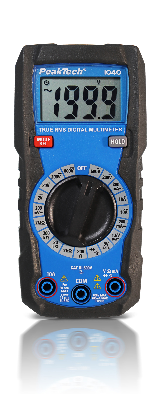 «PeakTech® P 1040» TrueRMS Digital Multimeter 2000 Counts, Man. Range
