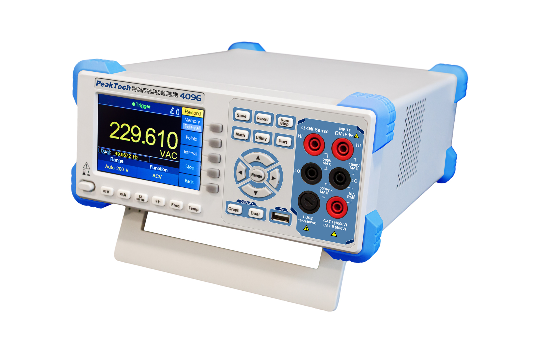«PeakTech® P 4096» Graphical bench multimeter, 200.000 counts & TFT