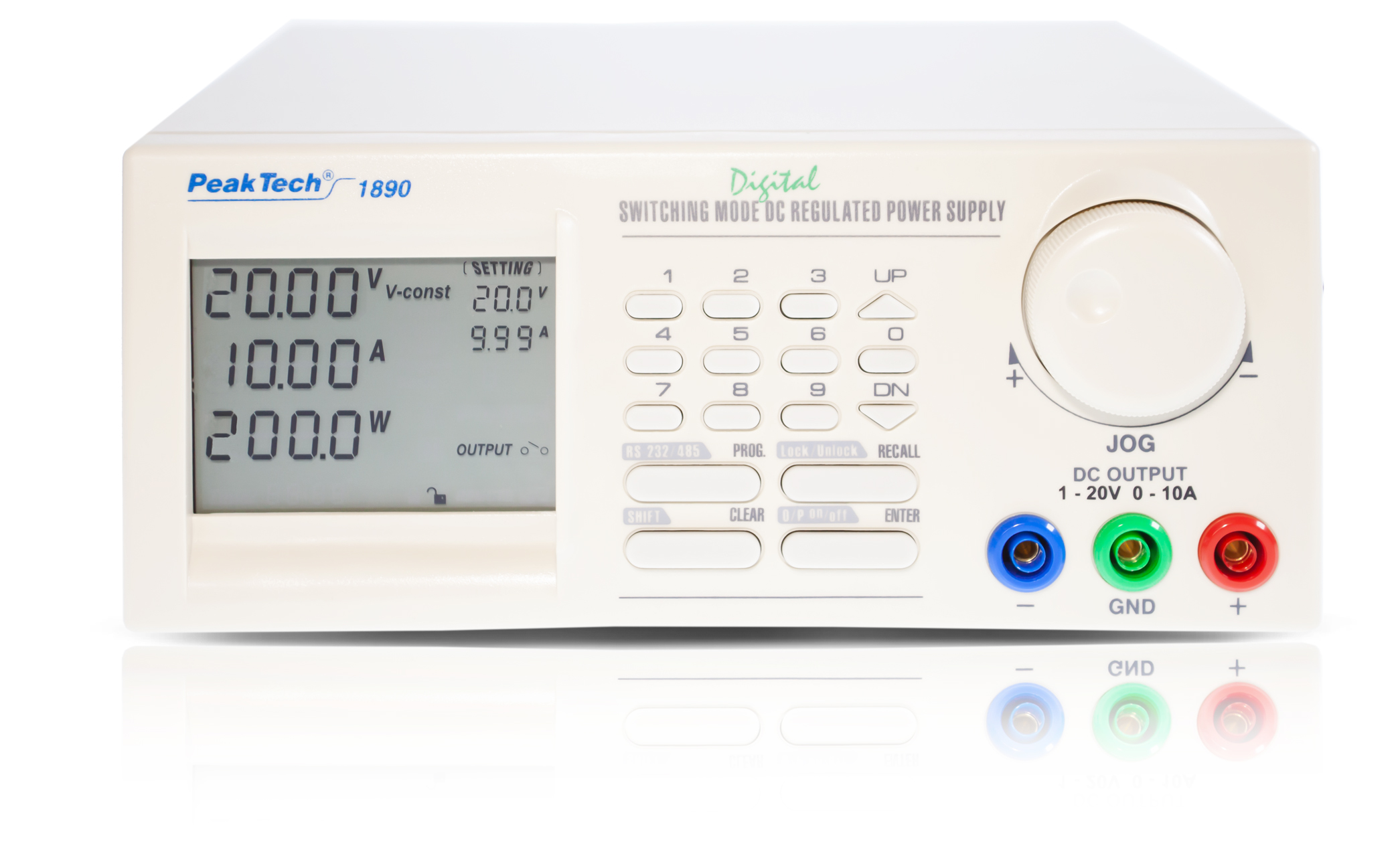«PeakTech® P 1890» Laboratory power supply DC 1 - 20V/ 0-10A with USB