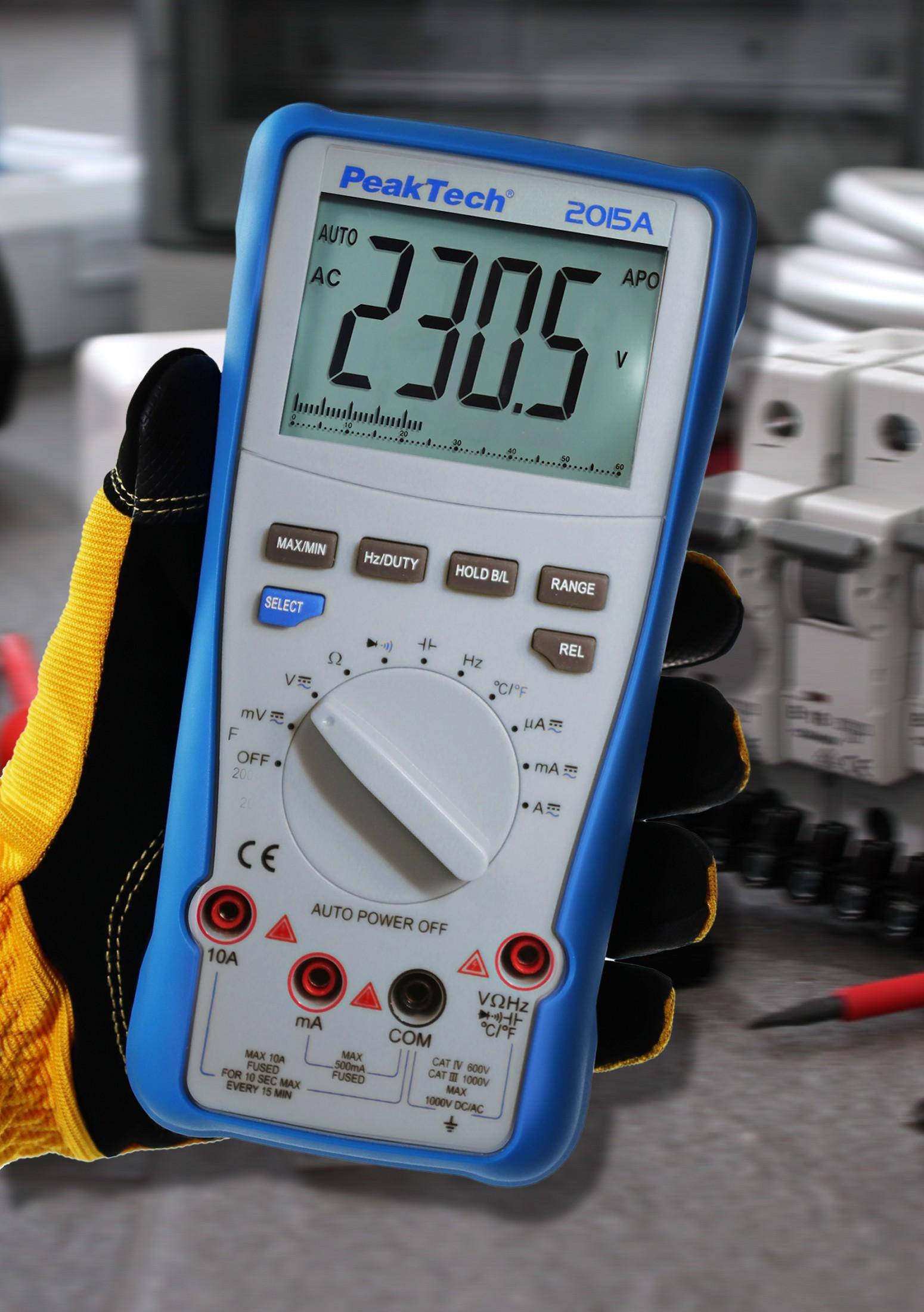 «PeakTech® P 2015 A» True RMS 1000 V digital multimeter 4000 Counts