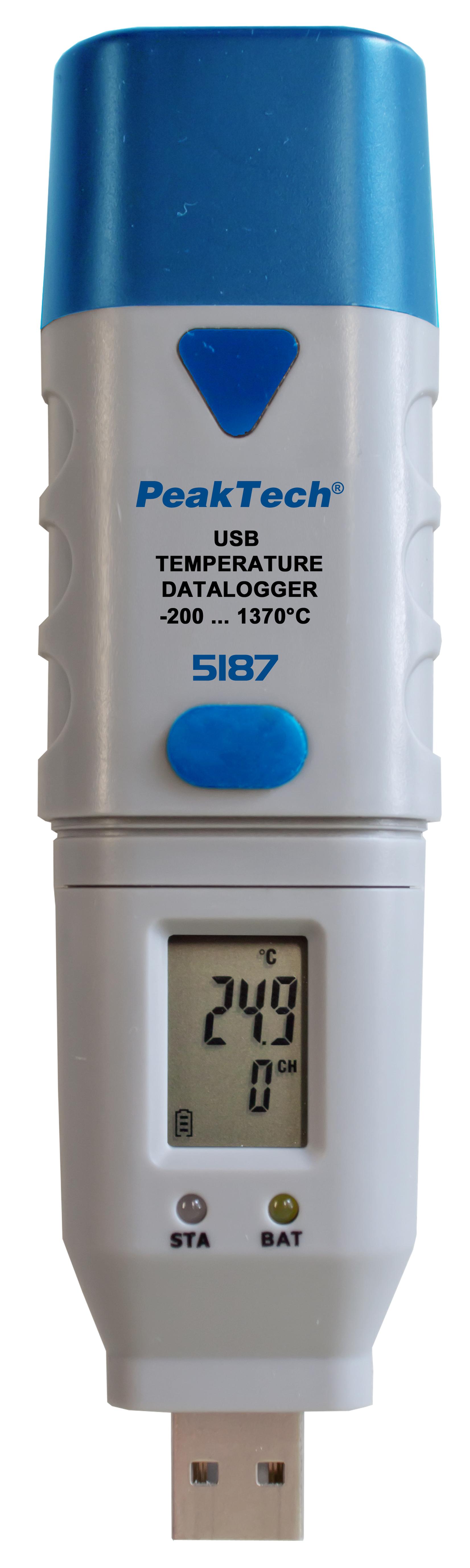 «PeakTech® P 5187» USB-Datalogger K-Type Temperature, 32.000 Points