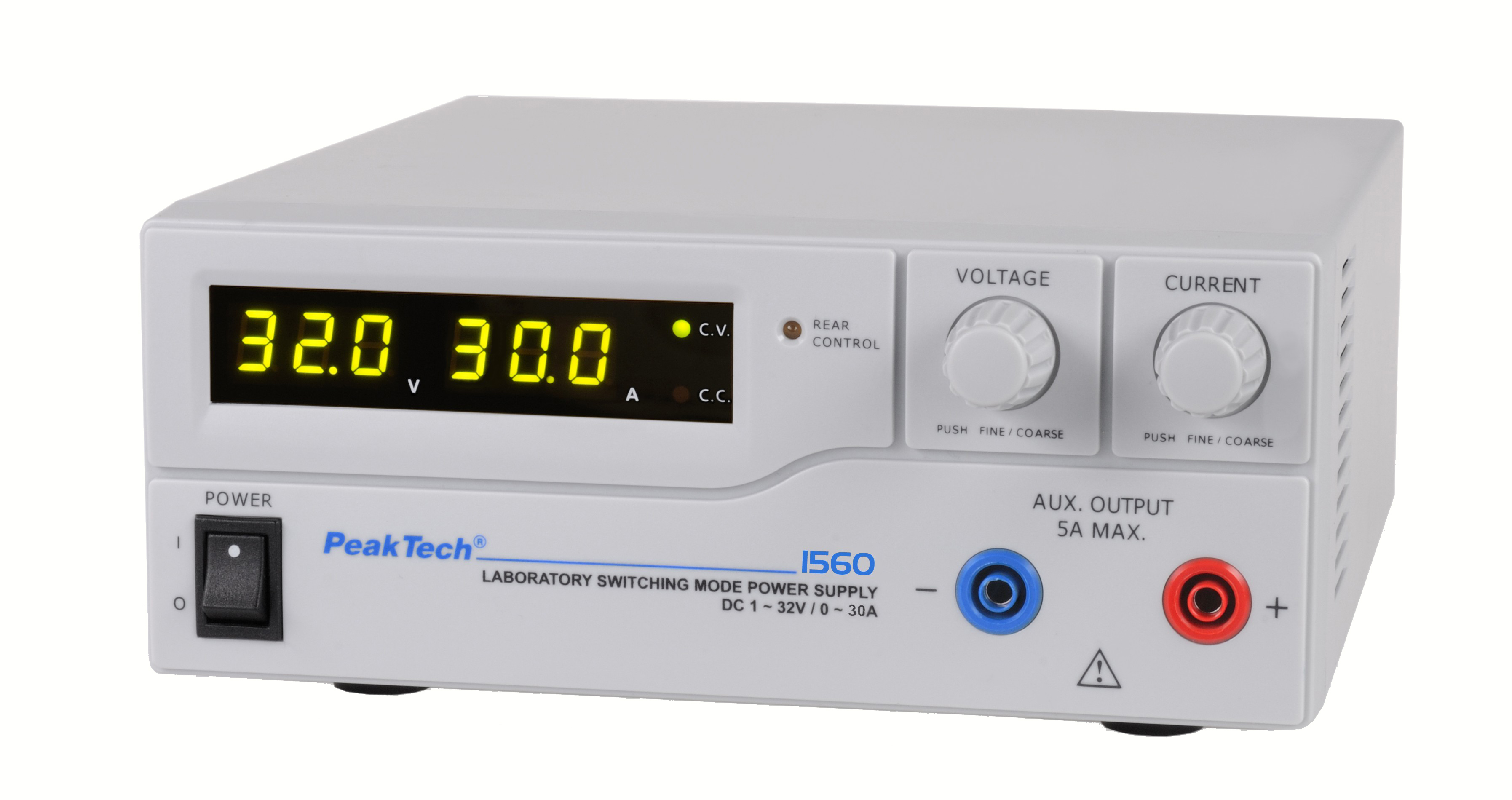 «PeakTech® P 1560» Laboratory power supply DC 1 - 32 V / 0 - 30 A