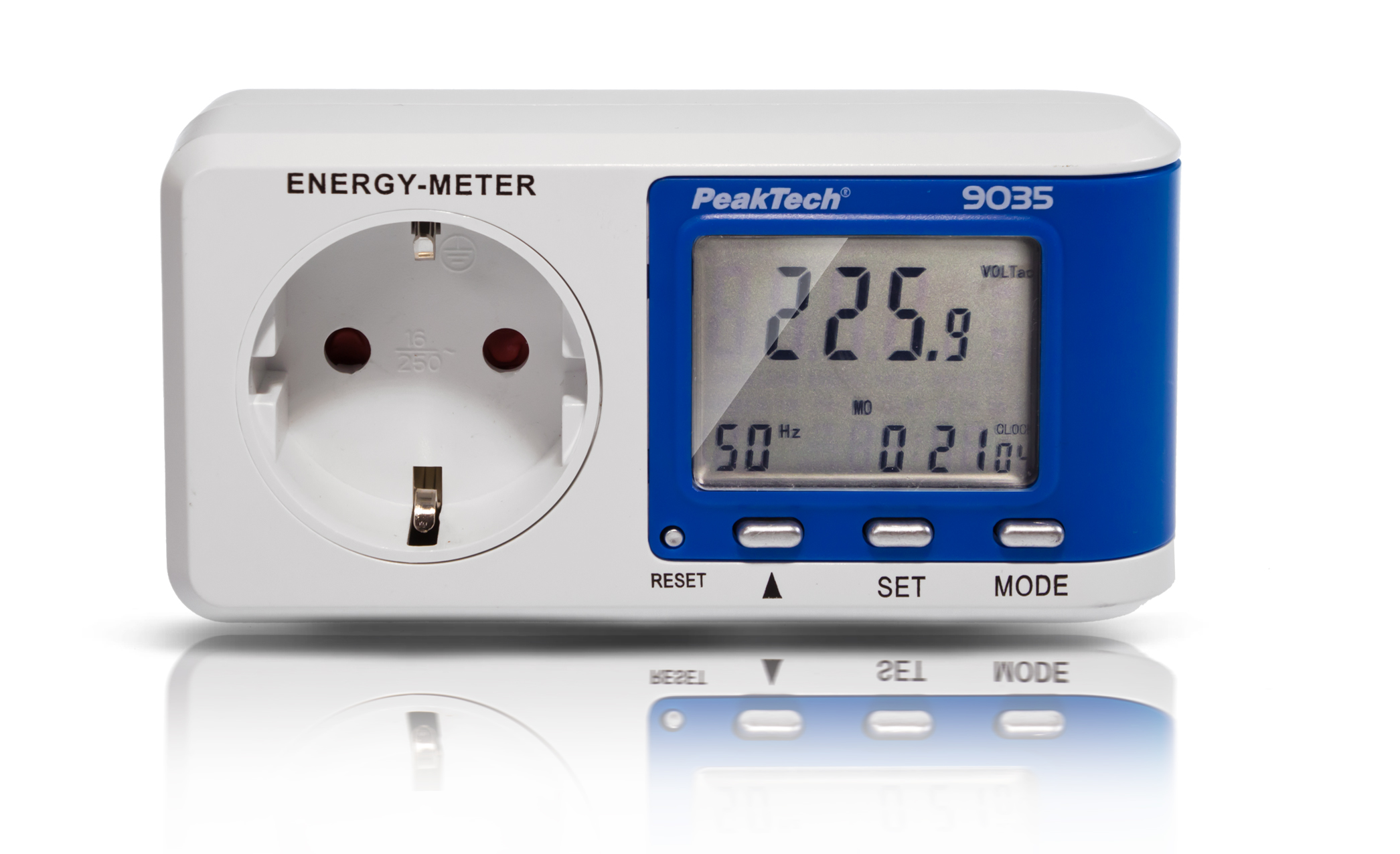«PeakTech® P 9035» Energy meter ~ 0.005 A ... 16,000 A ~ 3680W ~ 0.1W resolution