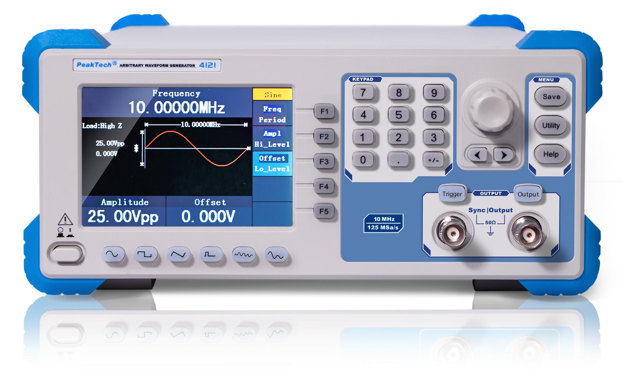 «PeakTech® P 4121» 2CH arbitrary function generator, 1 µHz – 10 MHz