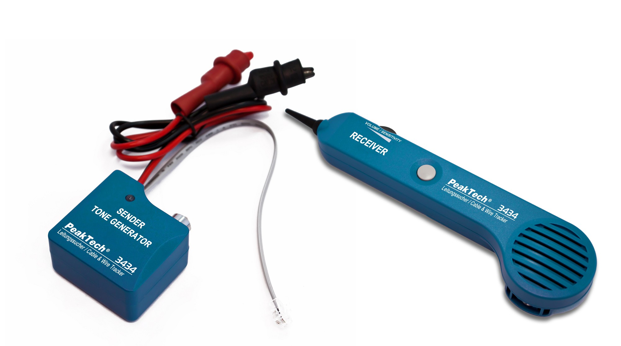 «PeakTech® P 3434» Acoustic cable detector with tone generator