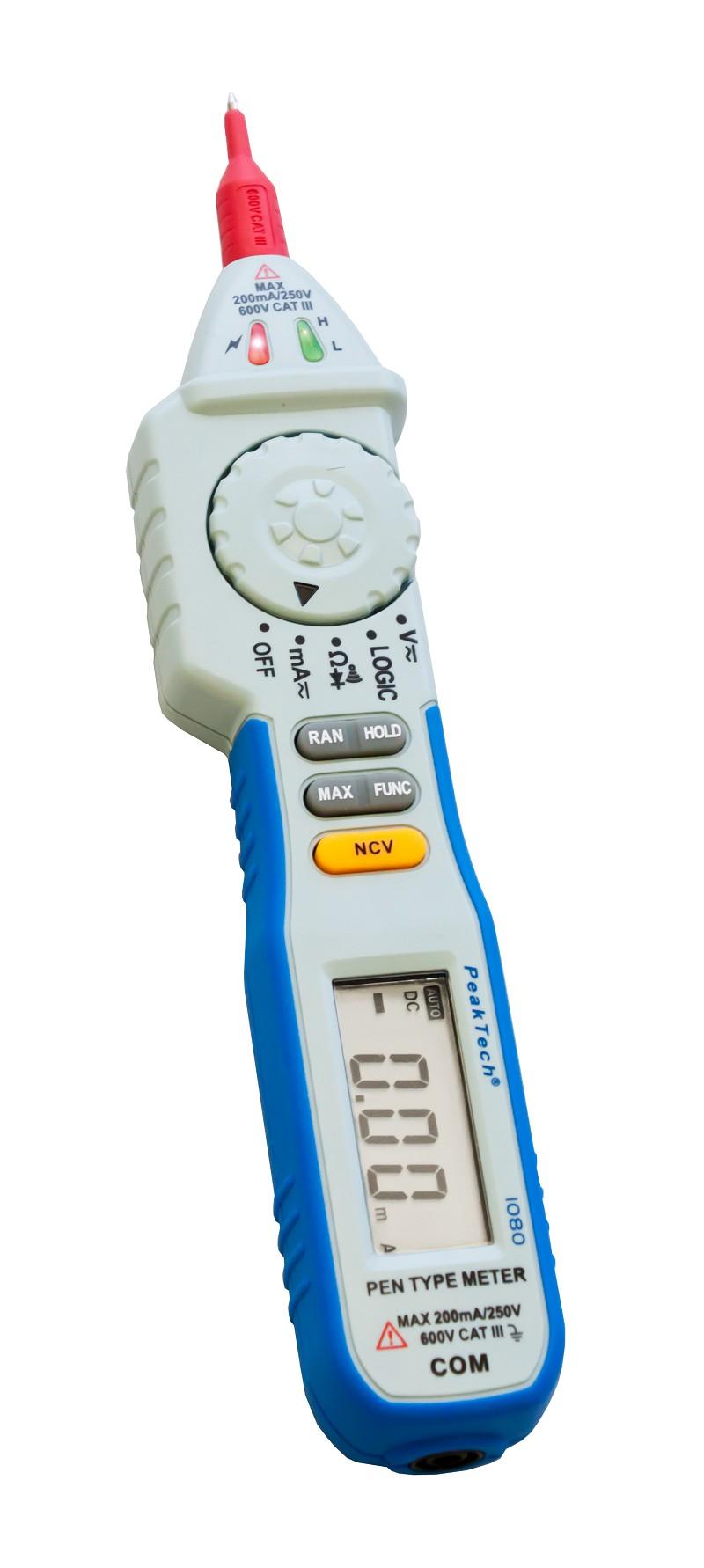 «PeakTech® P 1080» 600V AC / DC pen- type multimeter ~ 2000 digit LCD