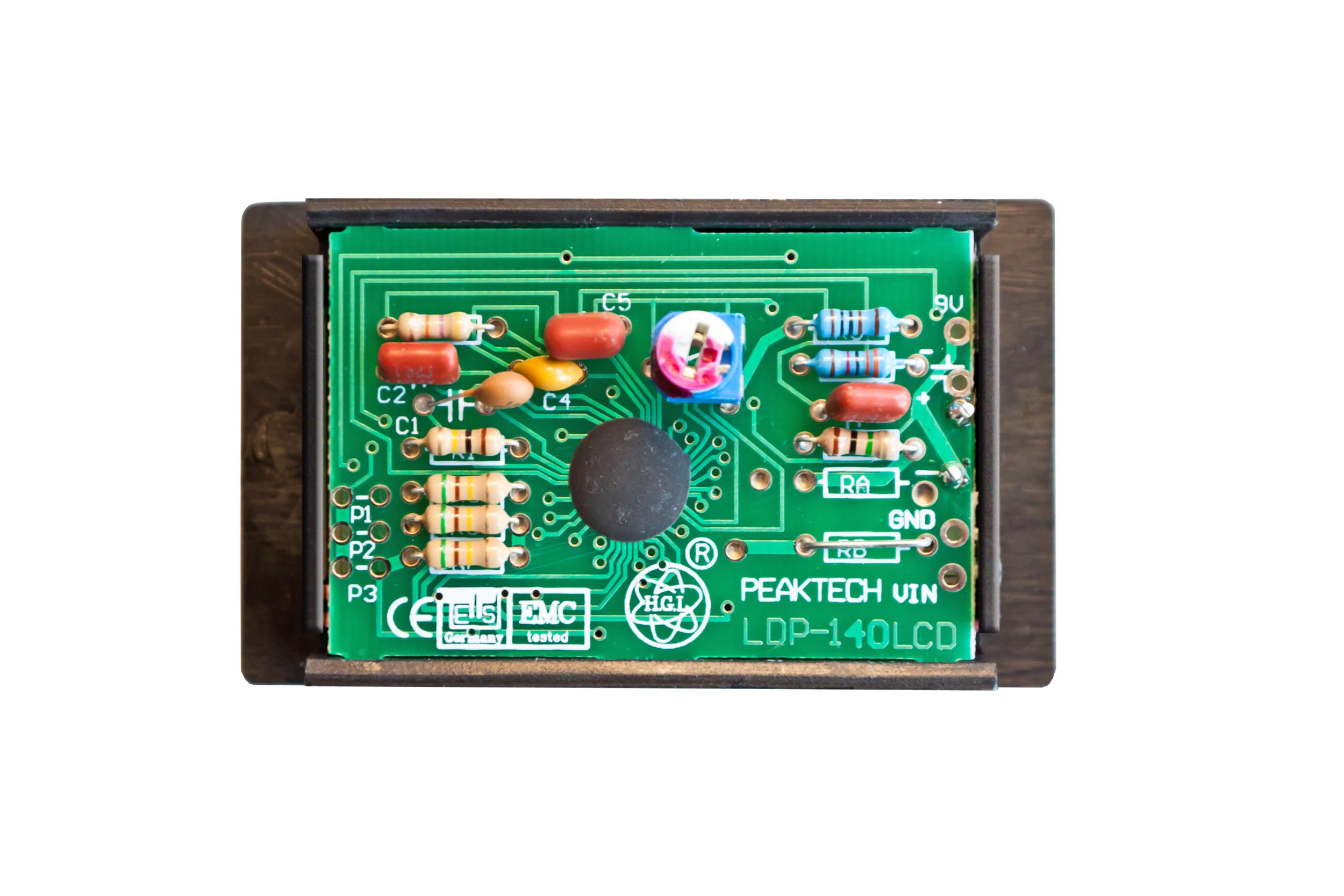«PeakTech® LDP-140» Volt & ammeter, LCD display 13mm hight of digits