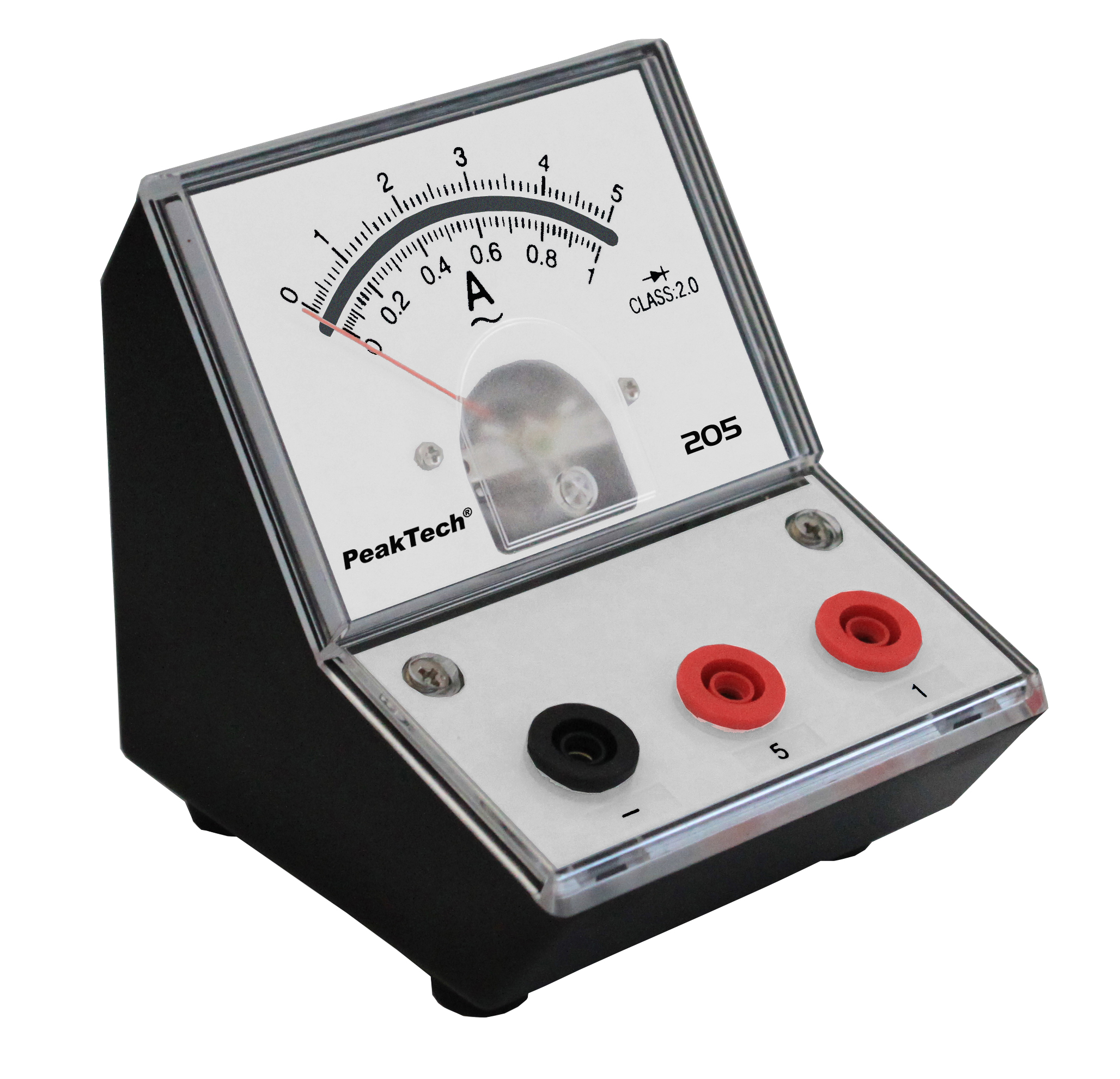«PeakTech® P 205-09» Analog amperemeter - 0 ... 1A/5A AC