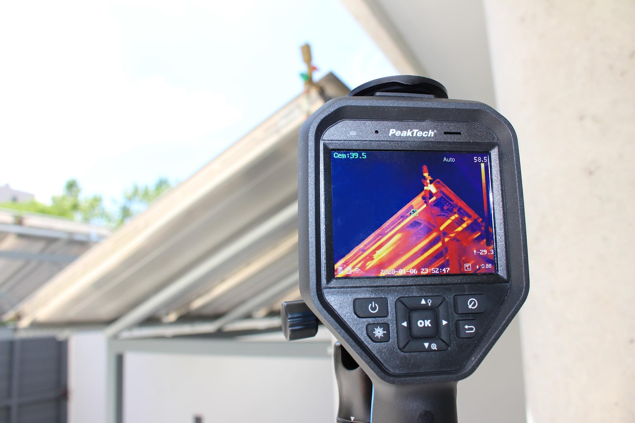 «PeakTech® P 5620» Thermal imaging camera 384x288 px. -20°C … 550°C