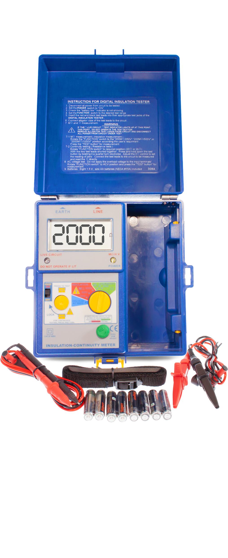 «PeakTech® P 2670» Isolationsmessgerät ~ 2.000 Counts ~ 250/500/1000 V ~ 2000 MOhm