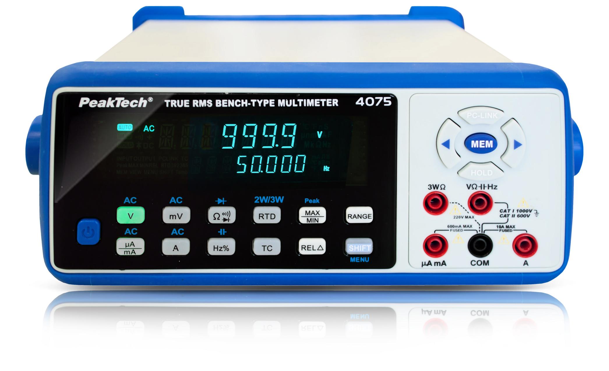 «PeakTech® P 4075» Digital bench multimeter, 63,000 counts