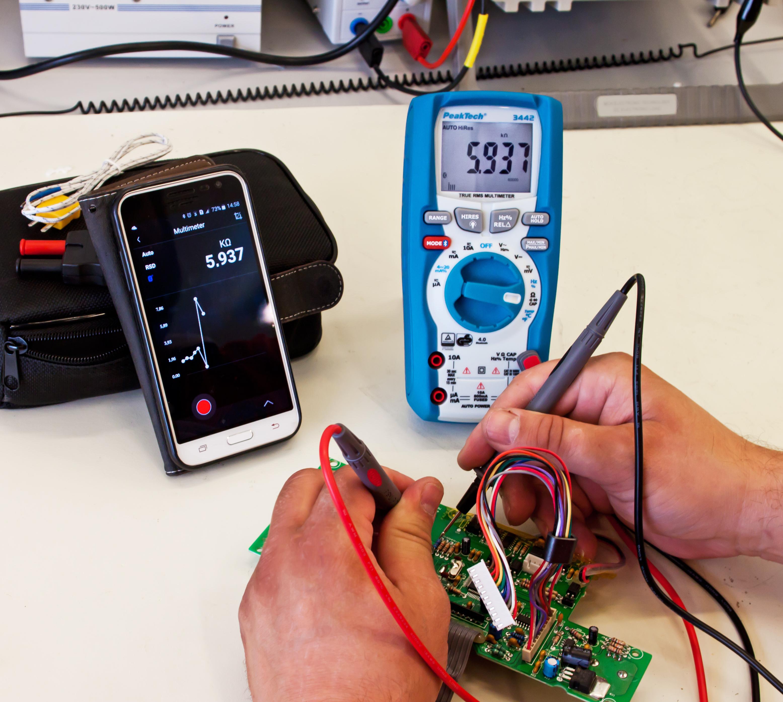 «PeakTech® P 3442» TrueRMS digital multimeter 60,000 counts, BT