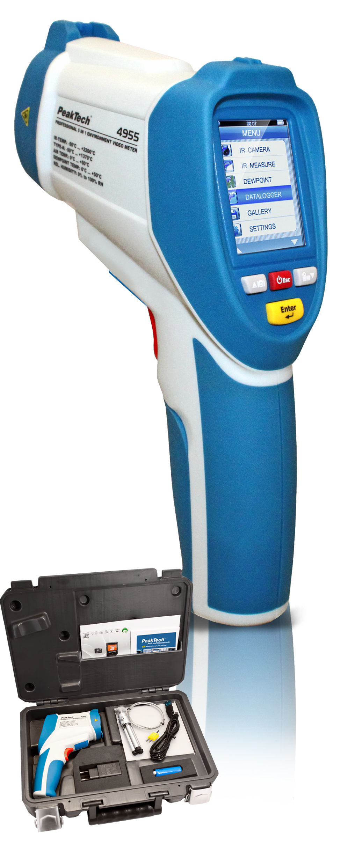 «PeakTech® P 4955» IR-Thermometer -50 … +2200°C, Datalogger, Video
