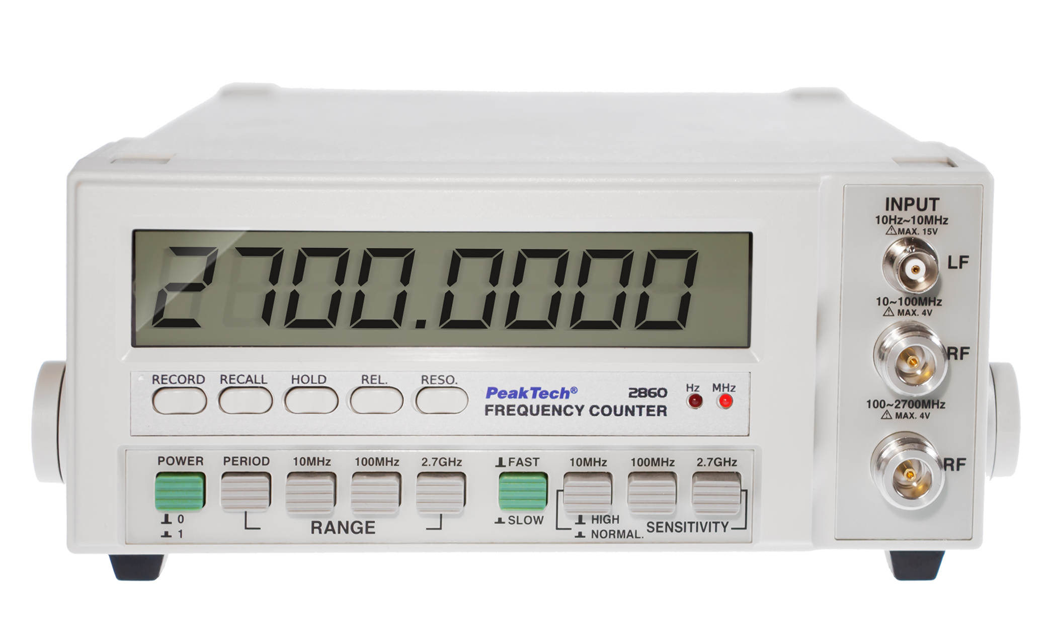 «PeakTech® P 2860» Universal frequency counter / 2.7 GHz