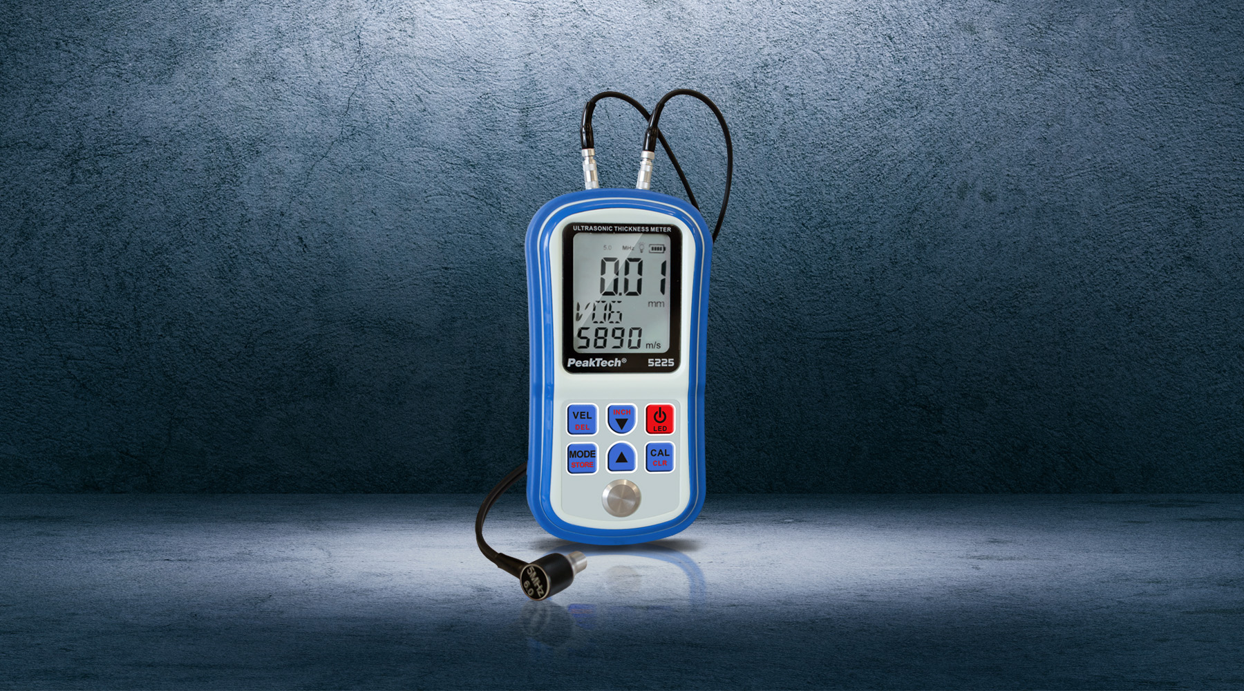 Material thickness gauges