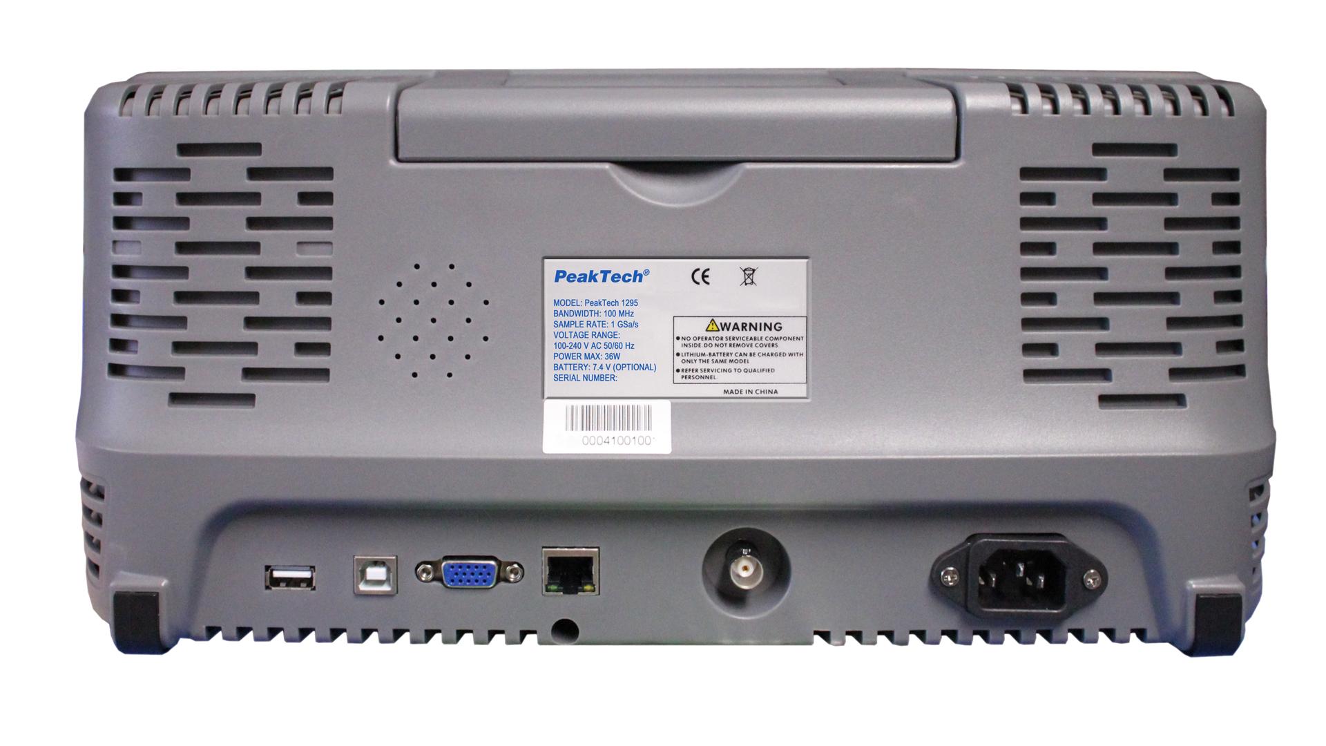 «PeakTech® P 1300» 200 MHz / 4 CH, 2 GS/s touchscreen oscilloscope