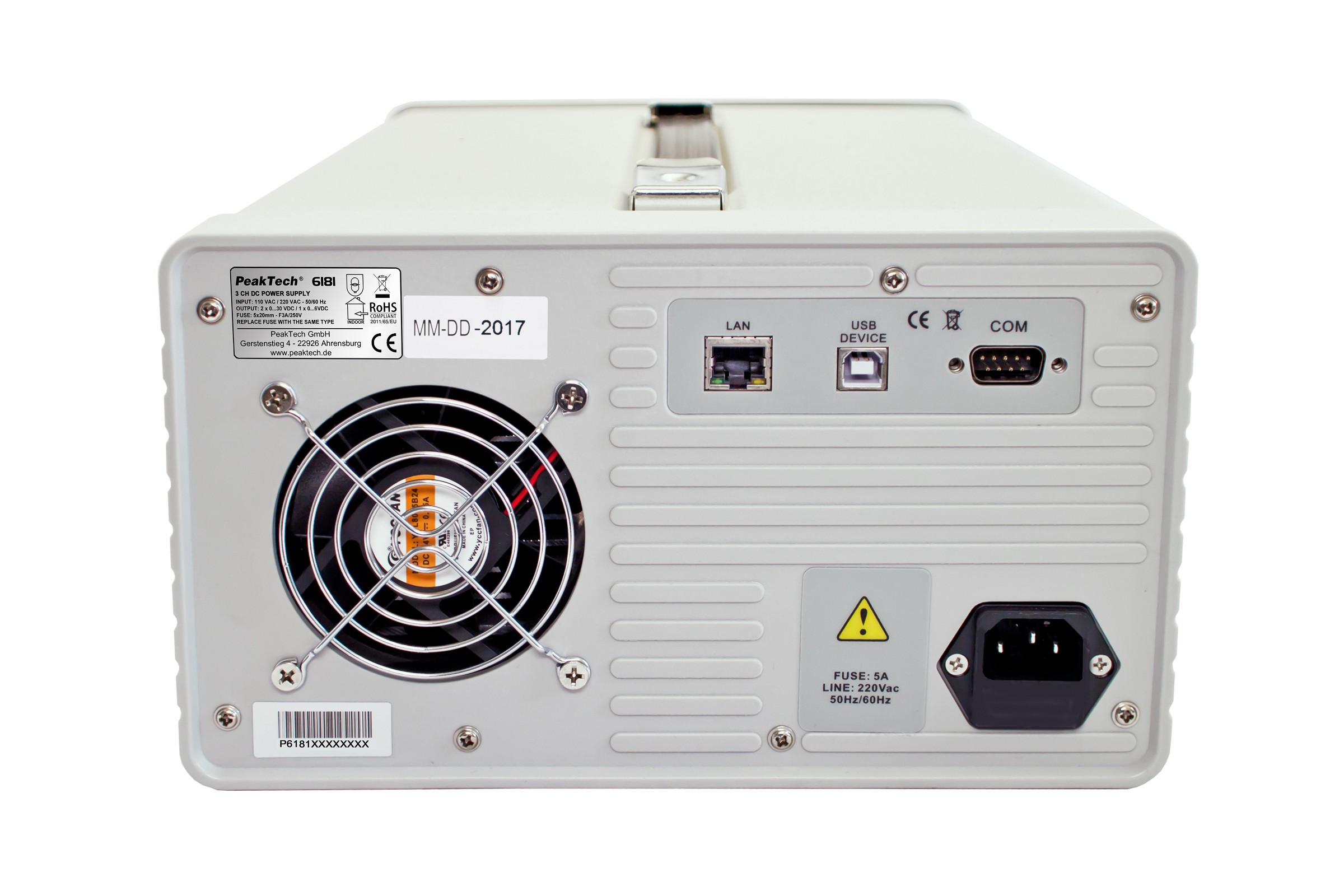 «PeakTech® P 6181» Programmable DC Power Supply