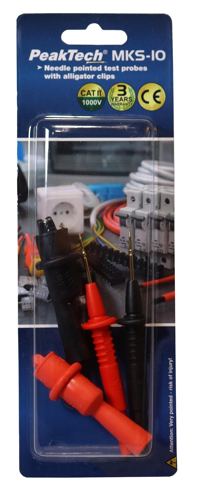 «PeakTech® MKS-10» Measuring tip set with 1 mm test tips