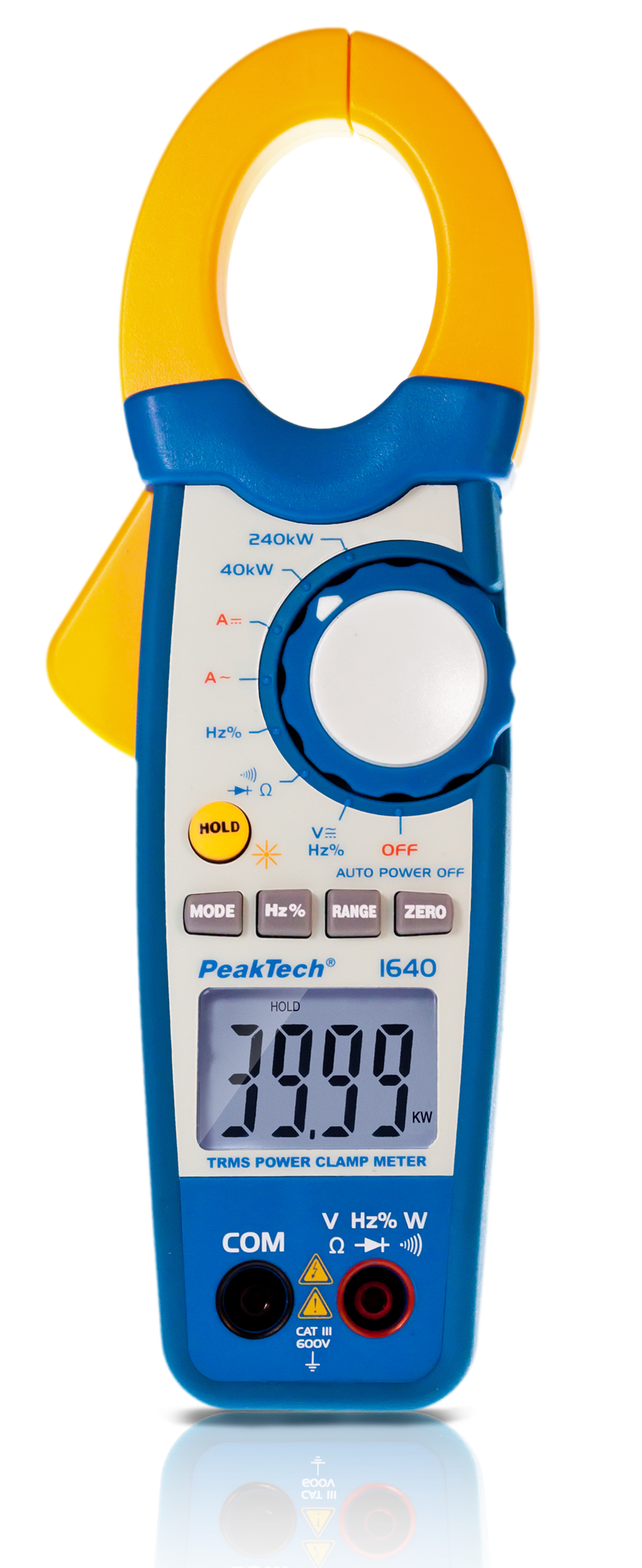 «PeakTech® P 1640» TrueRMS power current clamp 1000 A AC/DC