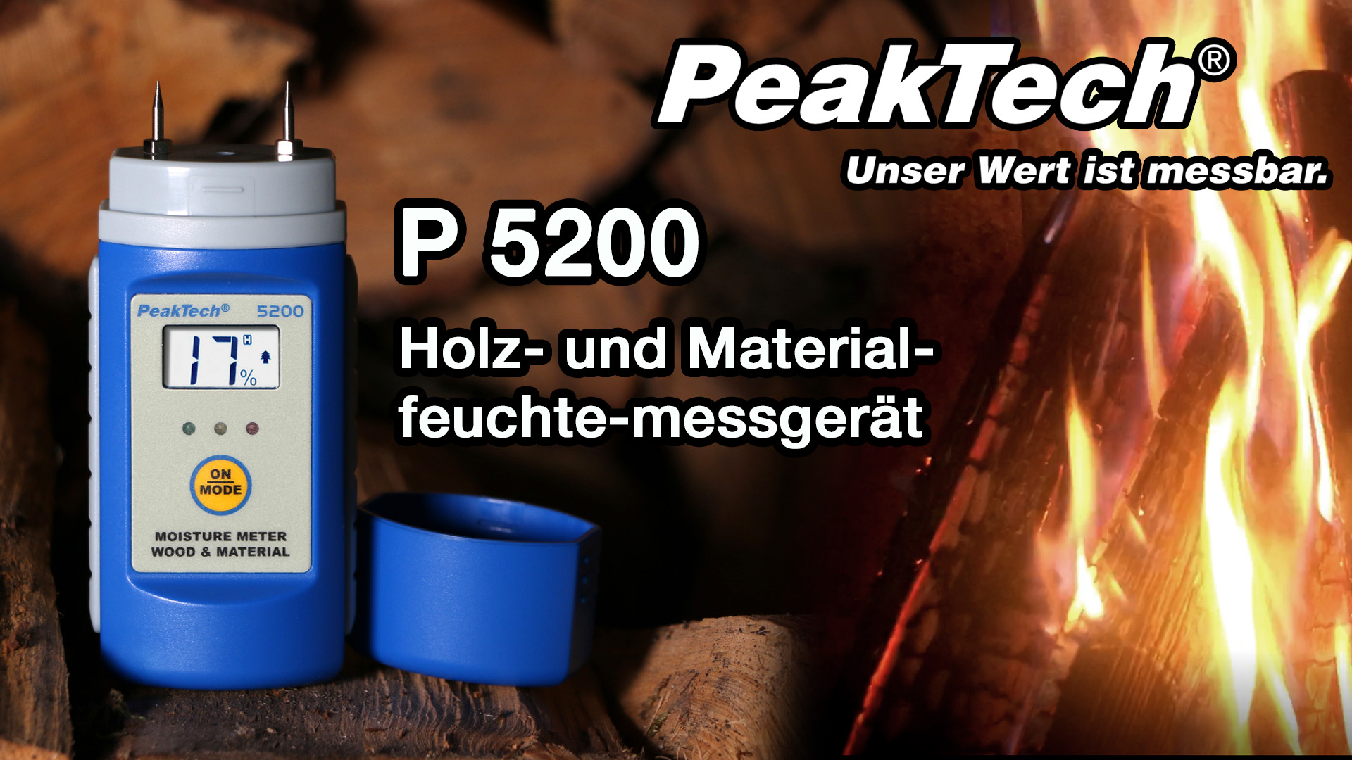«PeakTech® P 5200» Wood- and Material Moisture Meter