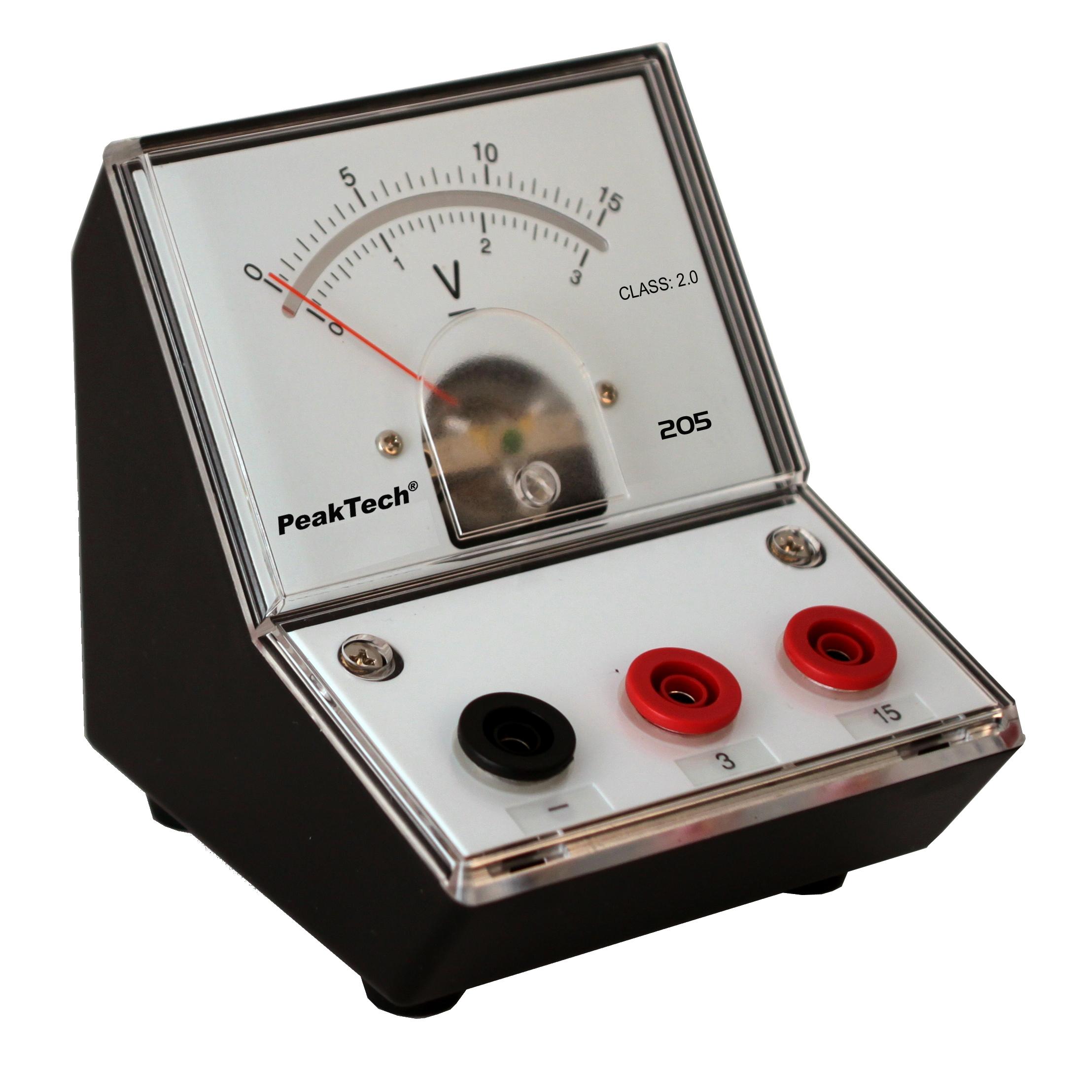 «PeakTech® P 205-05» Analog voltmeter - 0 ... 3V / 15V DC