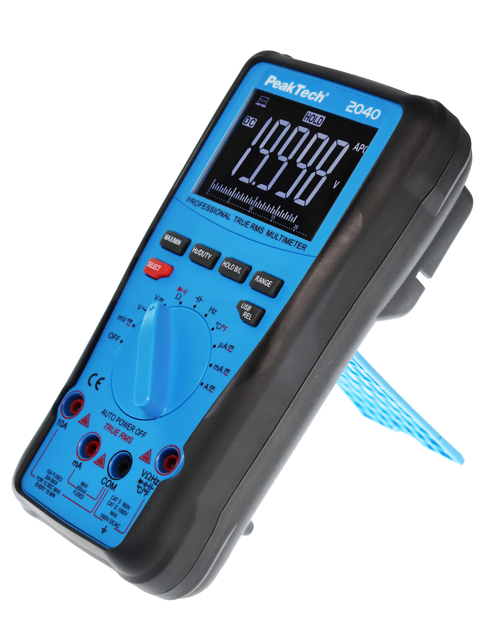 «PeakTech® P 2040» True RMS 1000V Digitalmultimeter 20000 Counts, USB