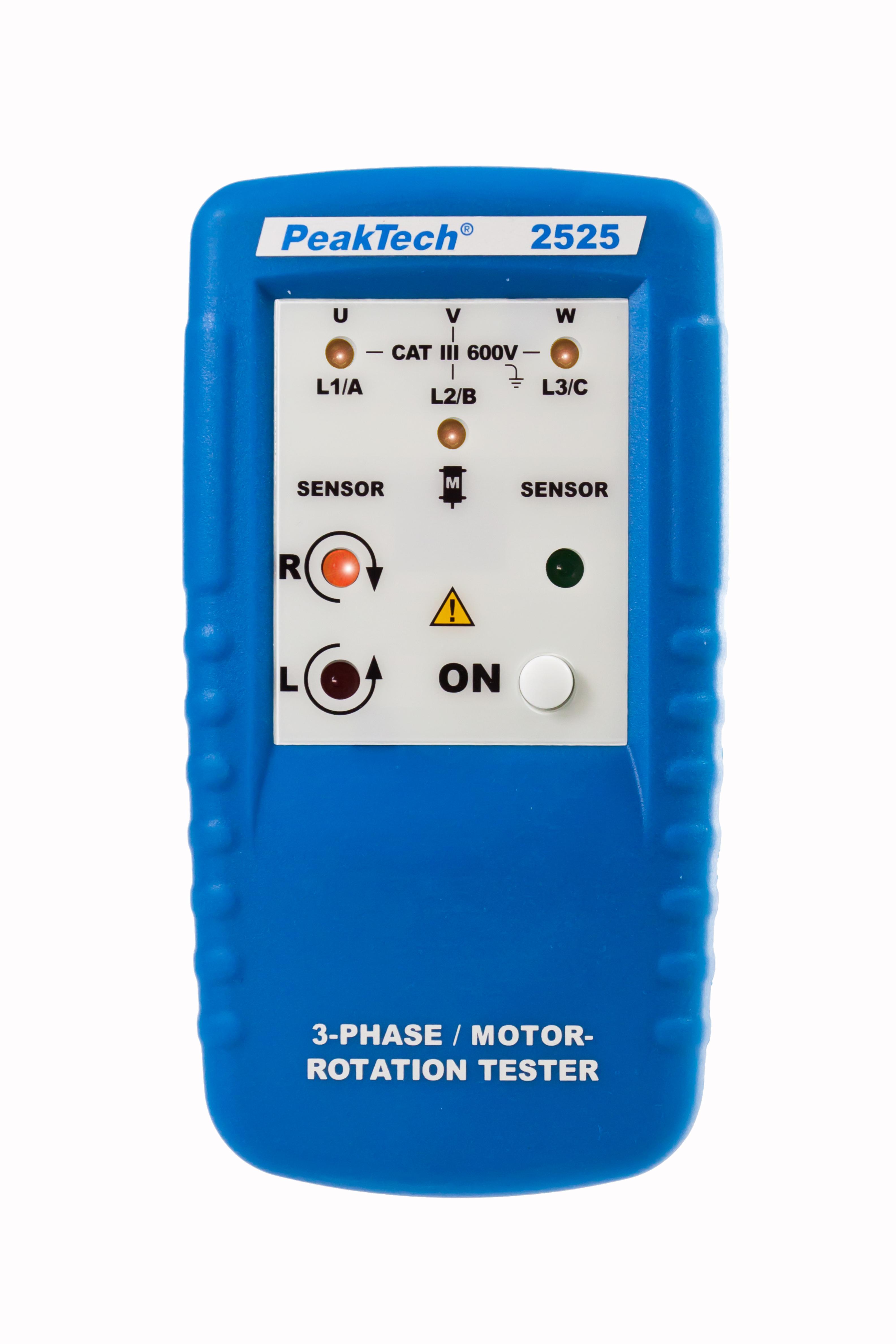 «PeakTech® P 2525» 3-phase motor direction indicator, LED display