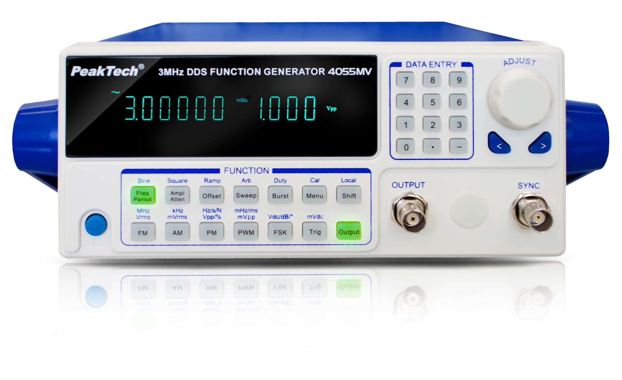 «PeakTech® P 4055 MV» DDS function generator 10 µHz - 3 MHz