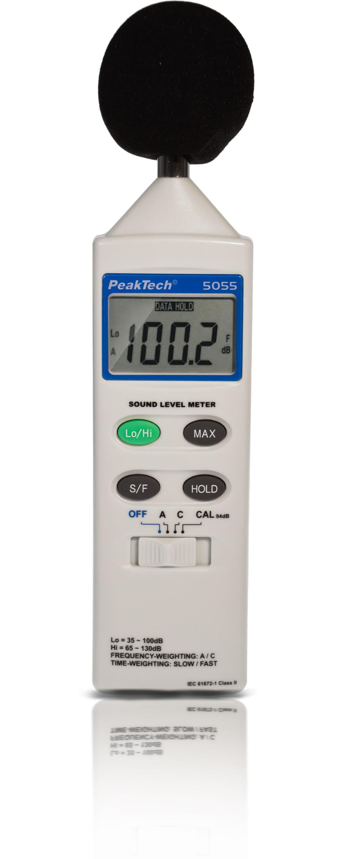 «PeakTech® P 5055» Digital Sound Level Meter, 3 1/2-digit