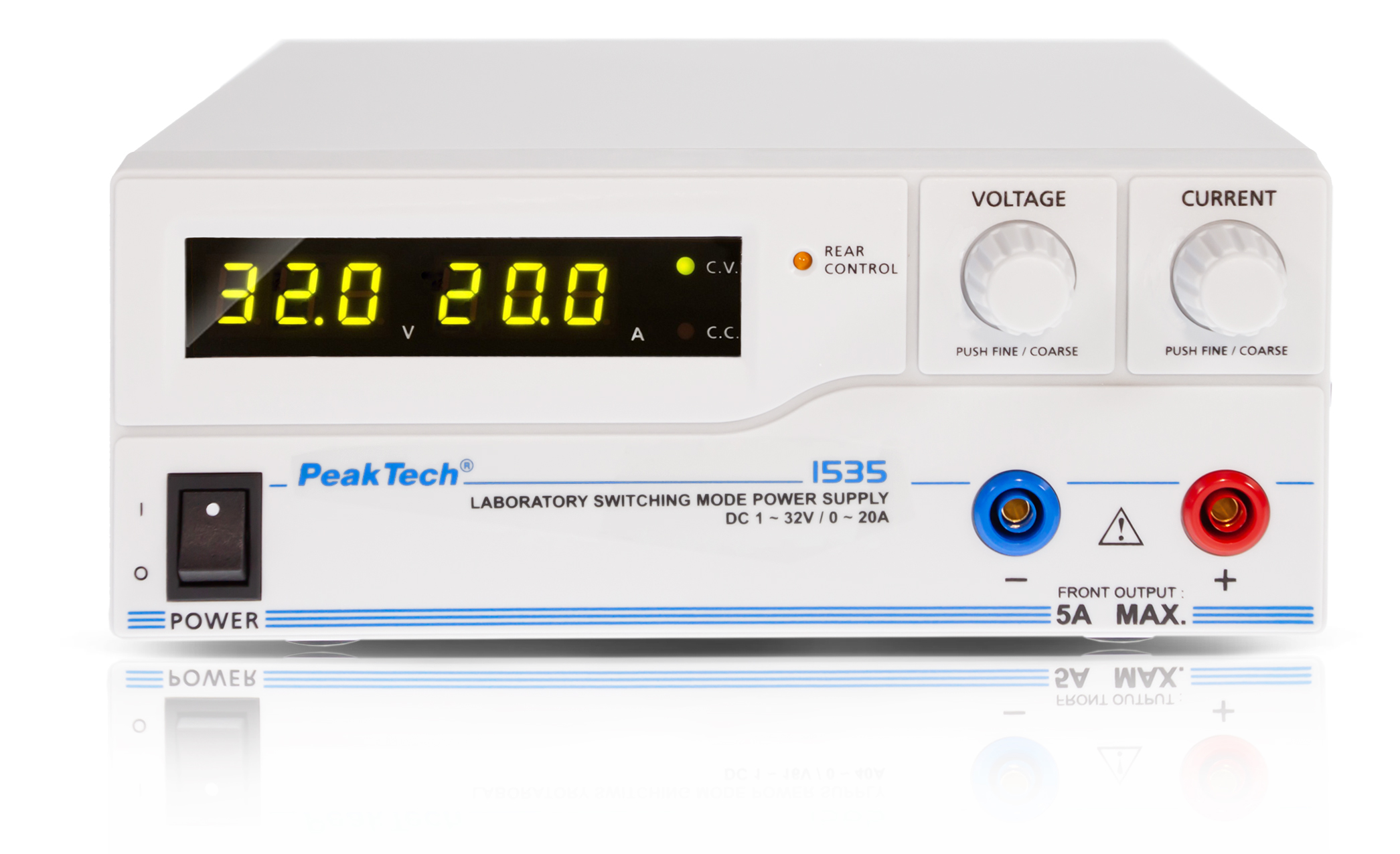«PeakTech® P 1535» Laboratory power supply DC 1 - 32 V / 0 - 20 A